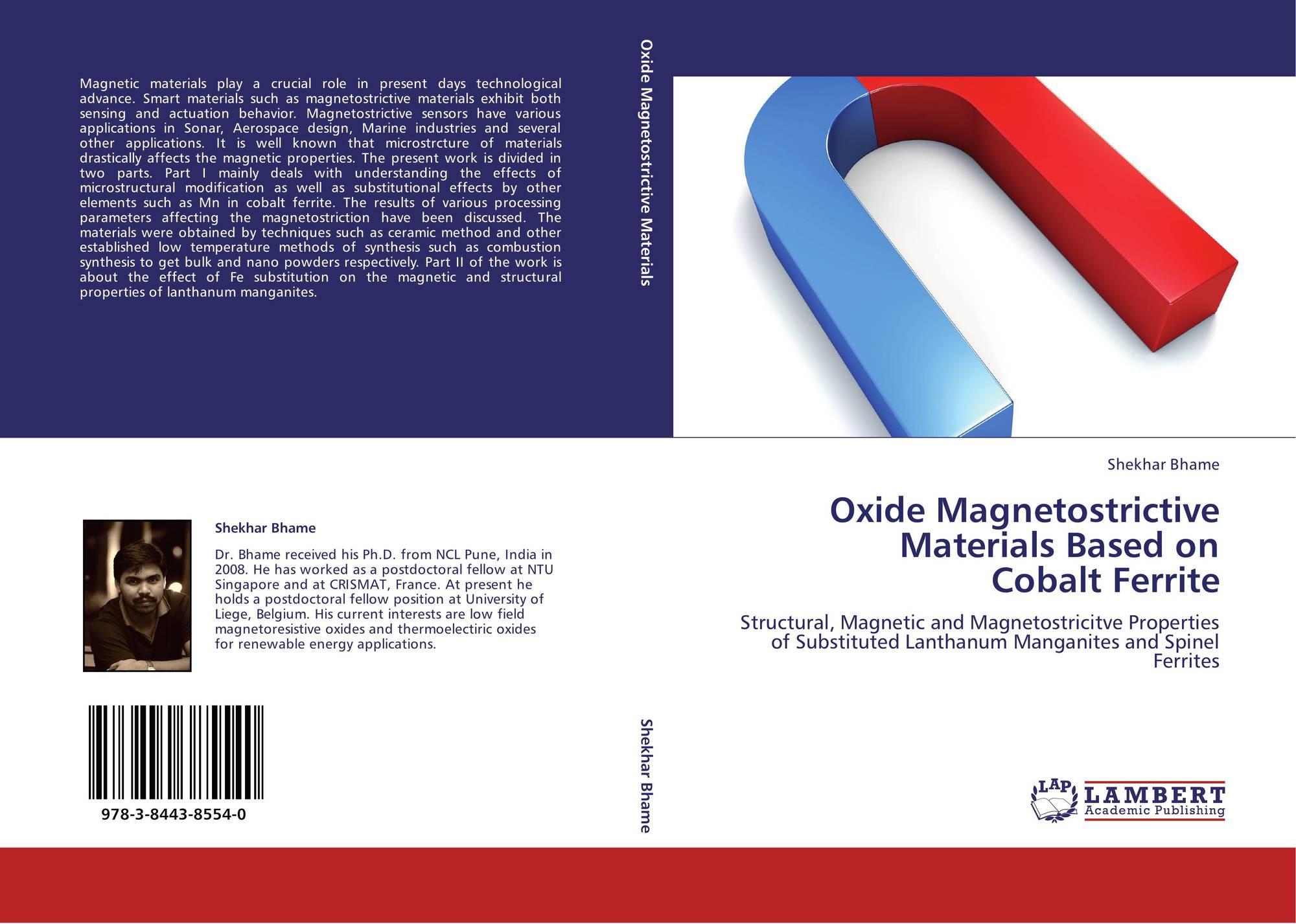 Oxide Magnetostrictive Materials Based on Cobalt Ferrite, 978-3-8443