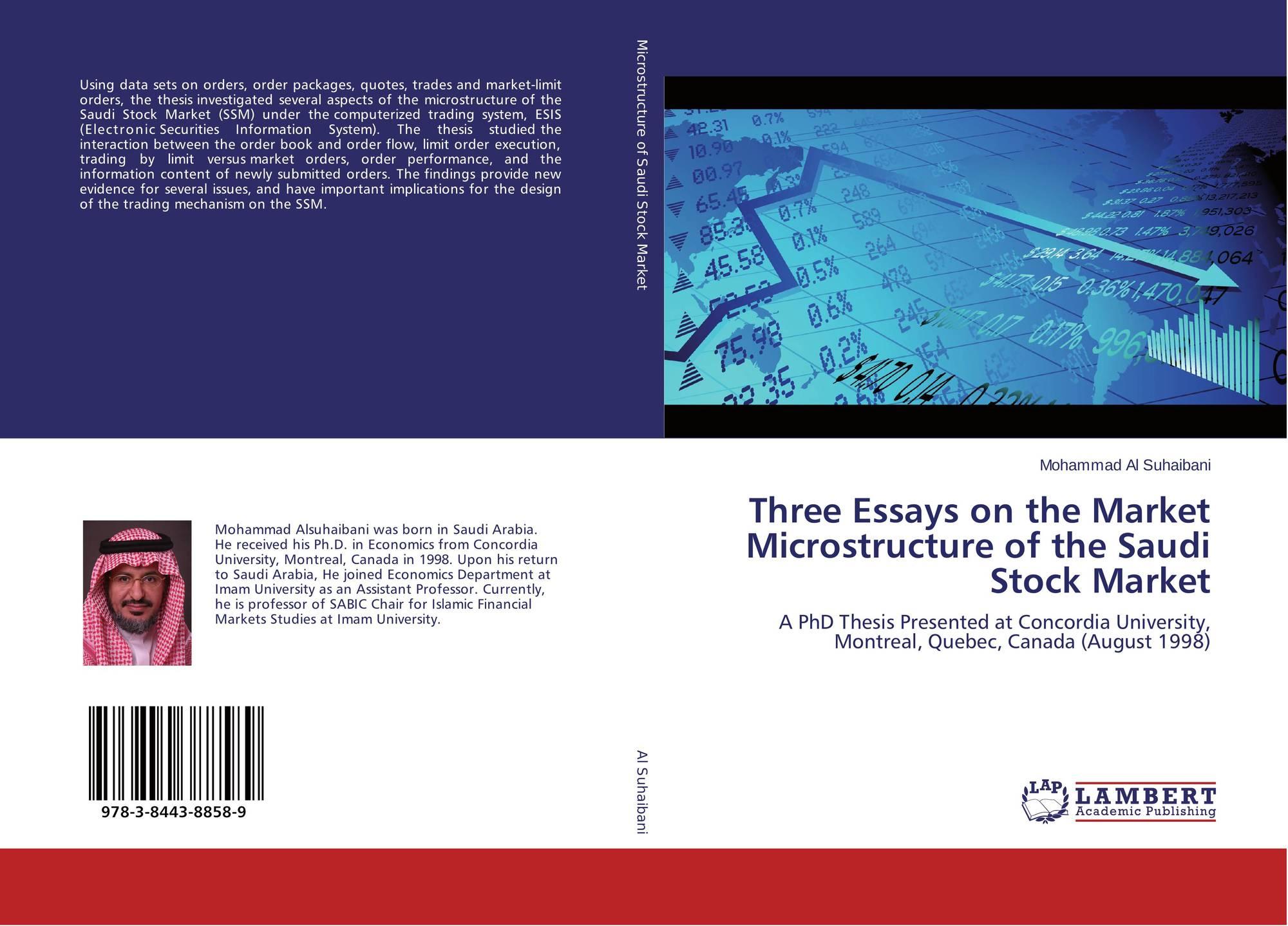 Three Essays On The Market Microstructure Of The Saudi Stock Market