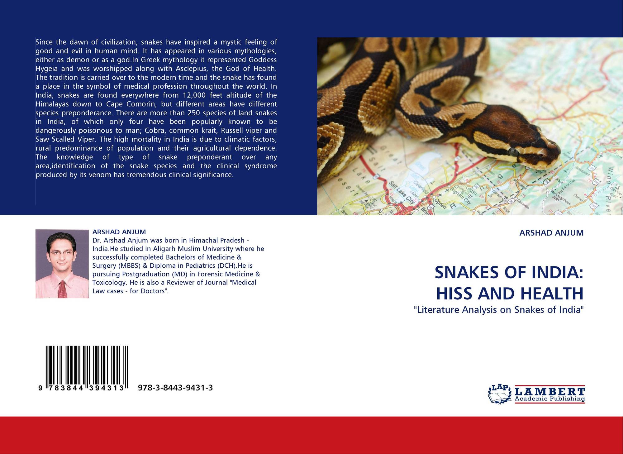 SNAKES OF INDIA: HISS AND HEALTH, 978-3-8443-9431-3