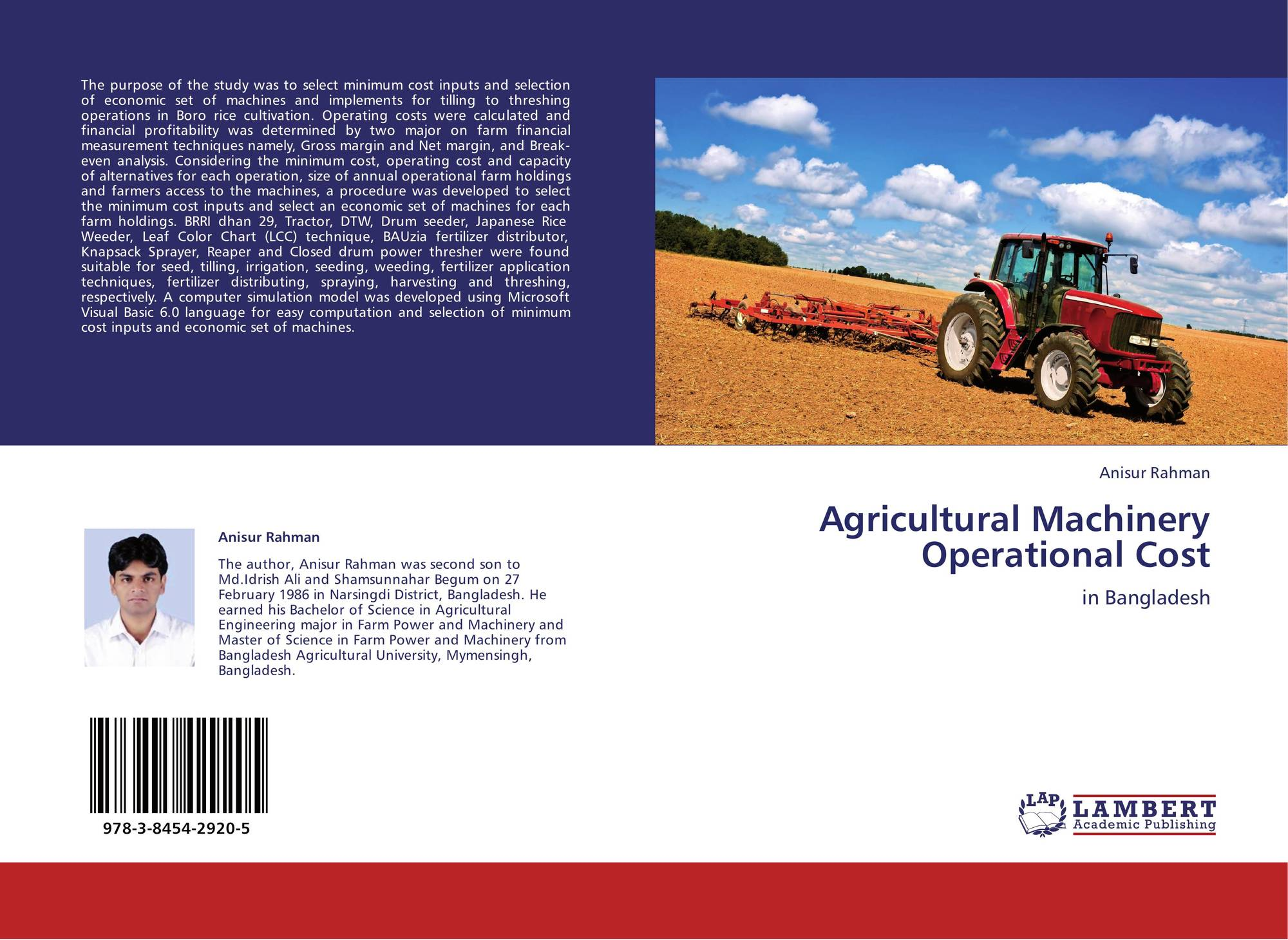 analysis of tractors Analysis of variance or anova is an important technique for analyzing the effect of categorical statgraphics technologies products provide several procedures for performing an analysis of variance.