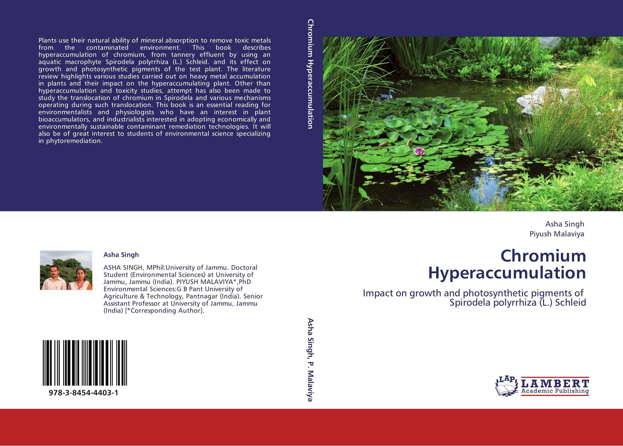 Chromium Hyperaccumulation, 978-3-8454-4403-1, 3845444037