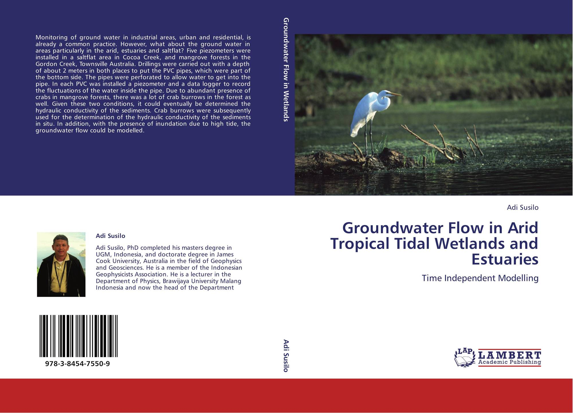 Bookcover of Groundwater Flow in Arid Tropical Tidal Wetlands and Estuaries