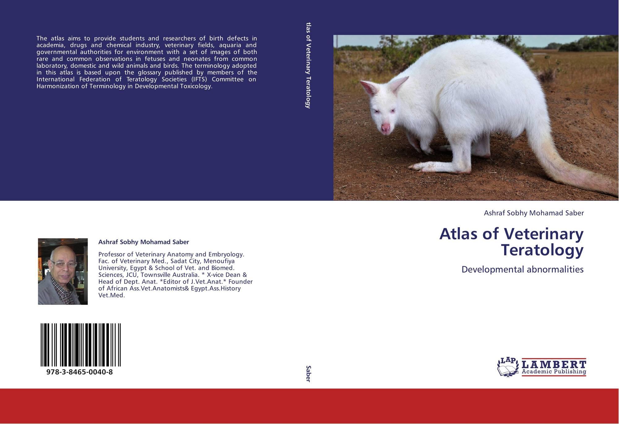 Atlas of Veterinary Teratology, 978-3-8465-0040-8, 3846500402 ...