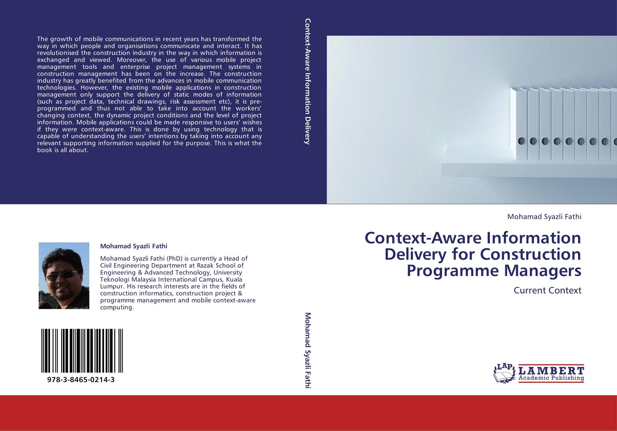 Context-Aware Information Delivery for Construction Programme Managers