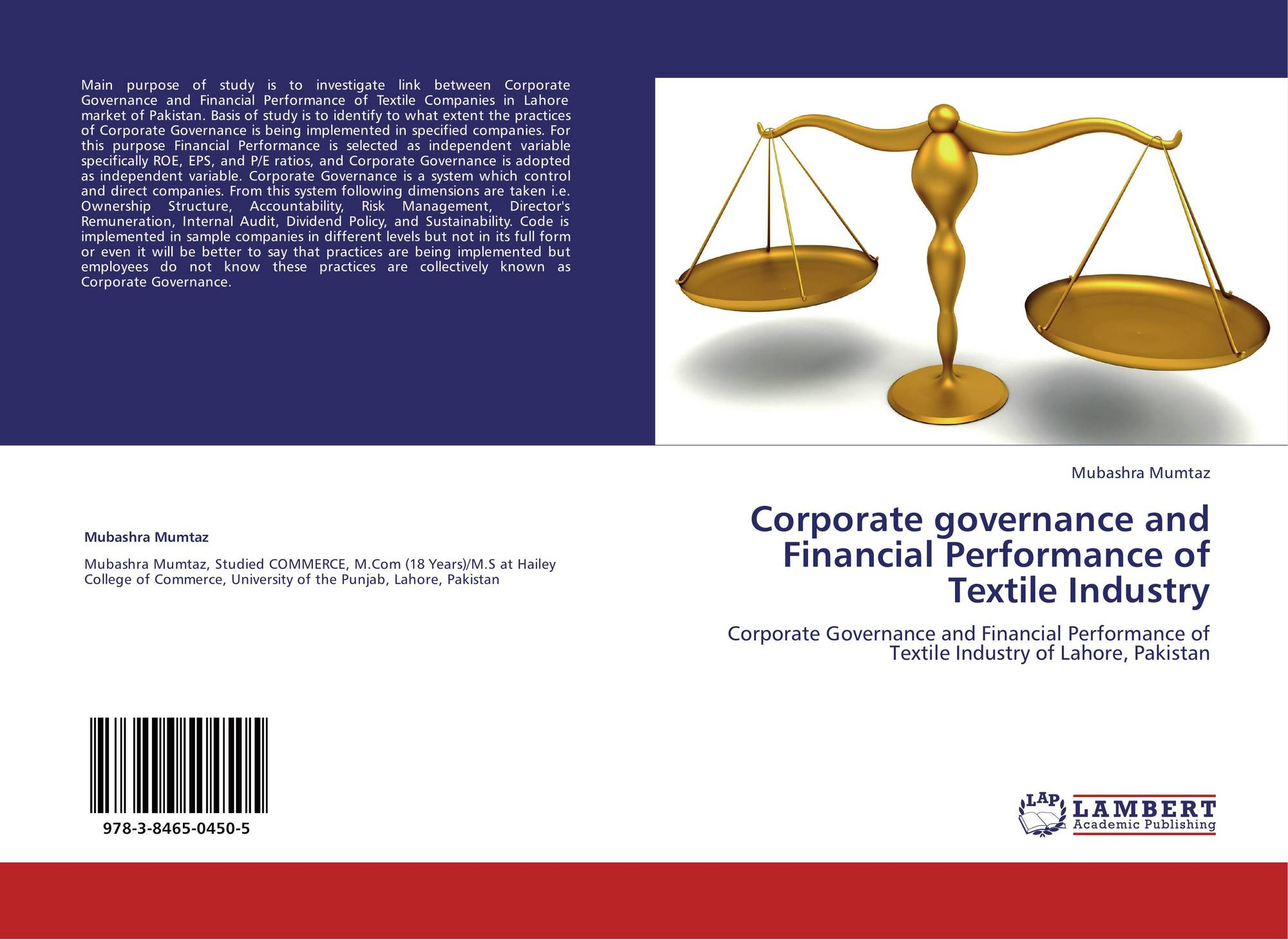 Corporate governance and Financial Performance of Textile