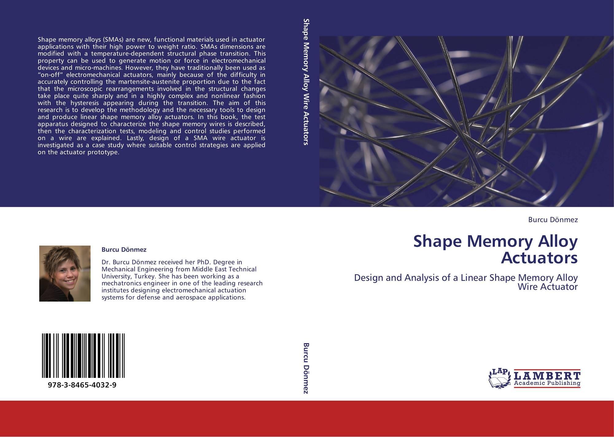 Shape Memory Alloy Actuators, 978-3-8465-4032-9, 3846540323