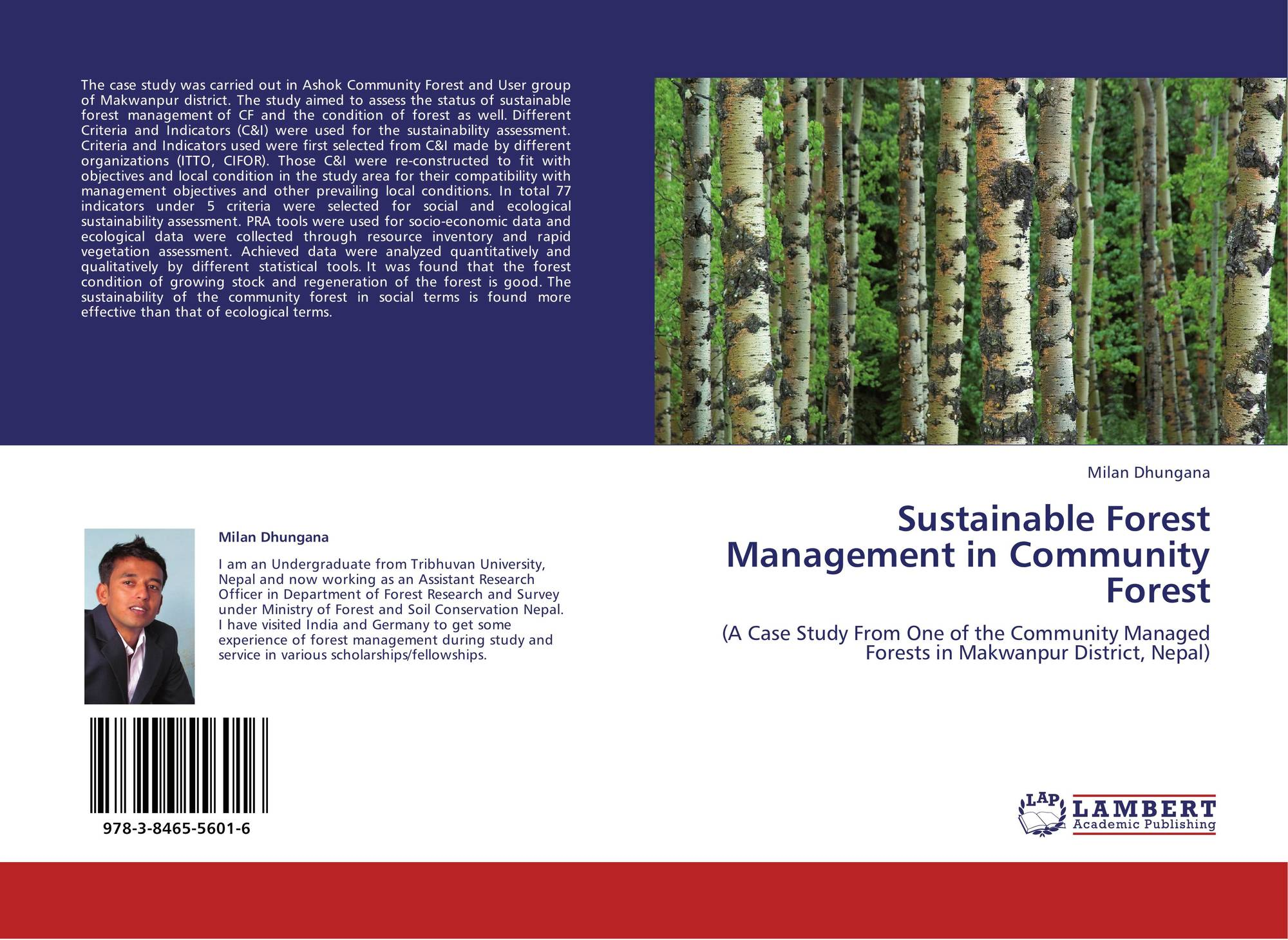 Sustainable forest management in community