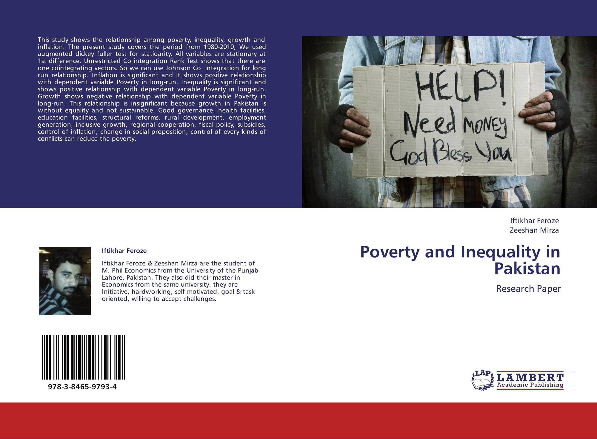 poverty in pakistan research paper Muslim states - bangladesh and pakistan - alone account for 122 million each living below the poverty line where as 100 million muslims of india are also living below the poverty line (irti, 2007, p18.
