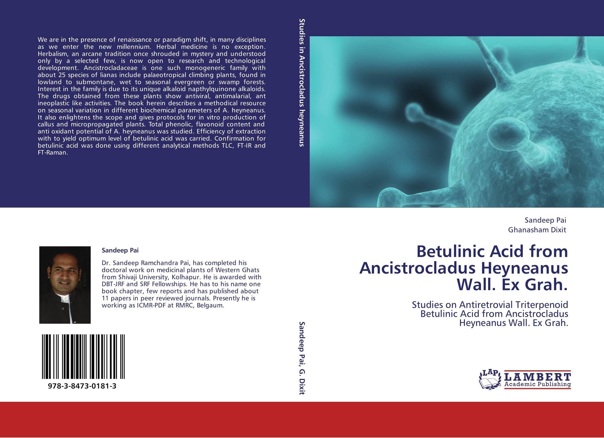 Betulinic Acid from Ancistrocladus Heyneanus Wall. Ex Grah.