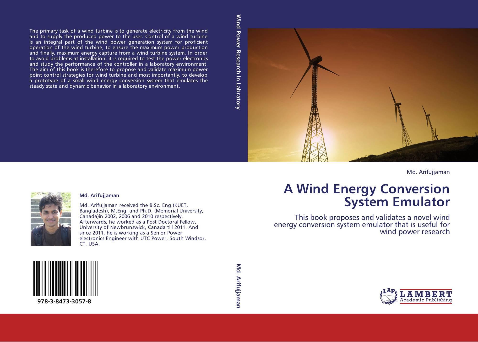 A Wind Energy Conversion System Emulator, 978-3-8473-3057-8