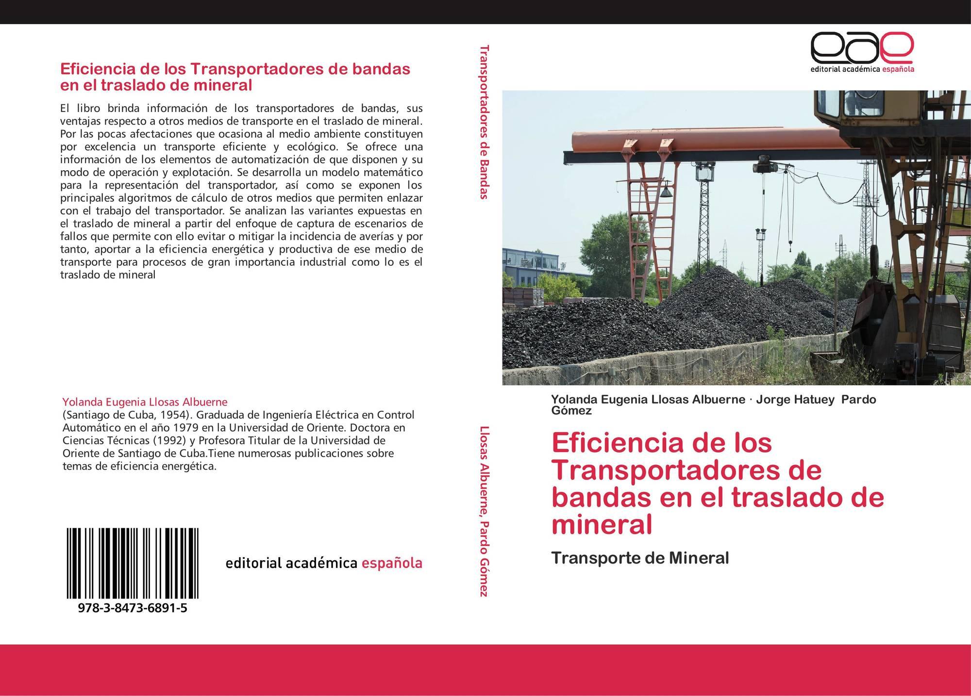 Portada del libro de eficiencia de los transportadores de bandas en el traslado de mineral