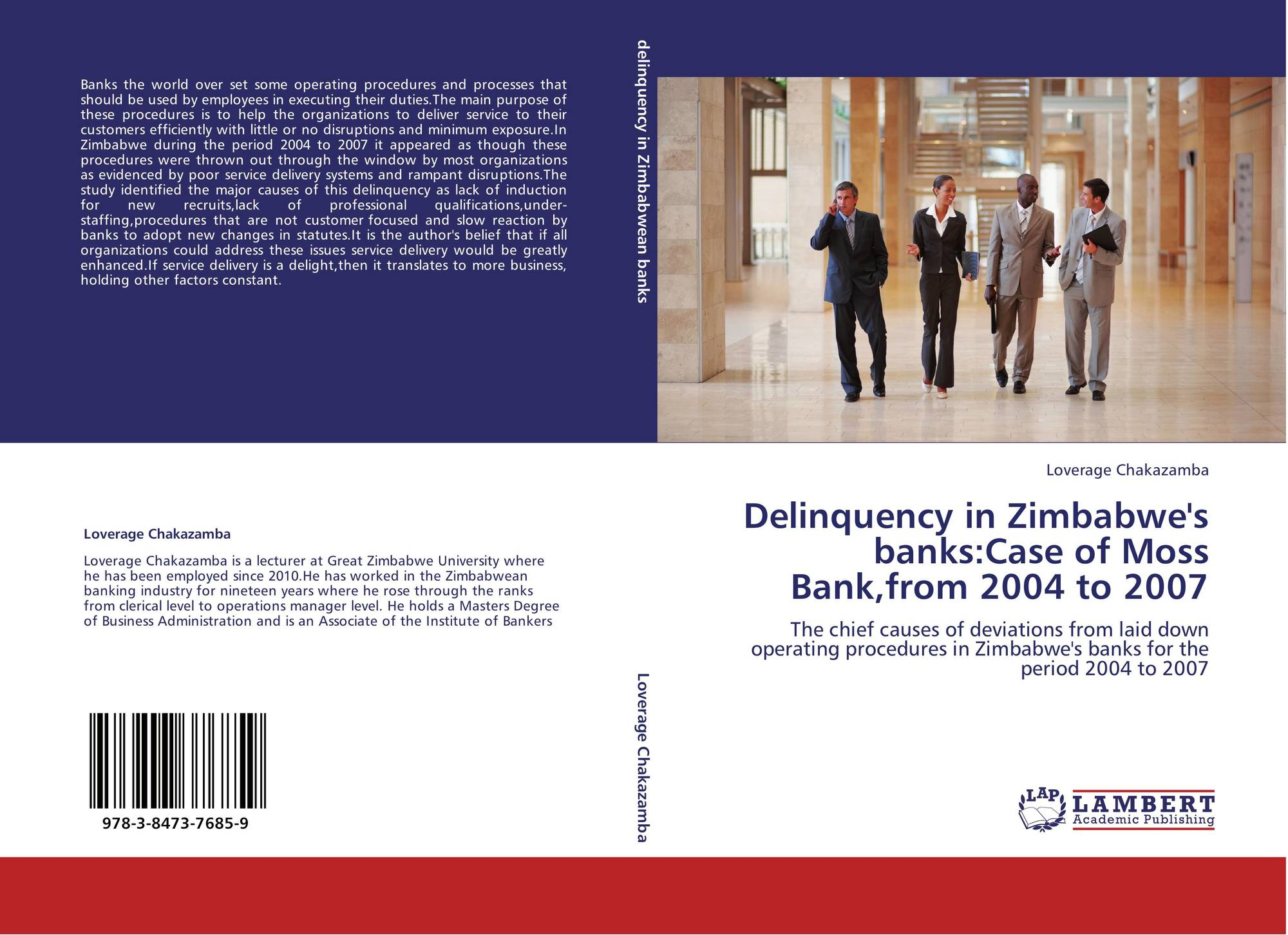 Delinquency in Zimbabwe's banks:Case of Moss Bank,from 2004