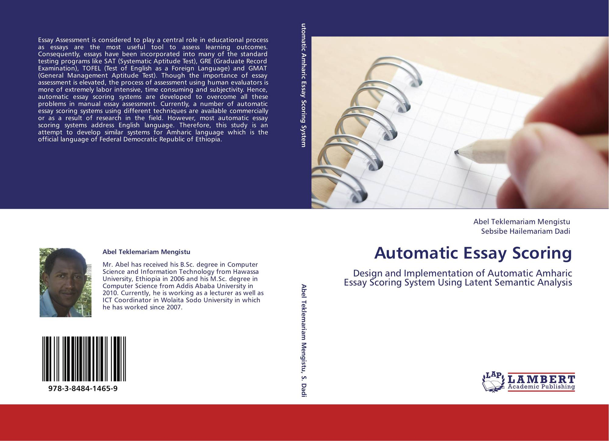 automatic essay scoring Considering misconceptions in automatic essay scoring with a-test - amrita test evaluation and scoring tool prema nedungadi1,2(&), jyothi l2, and raghu raman1.