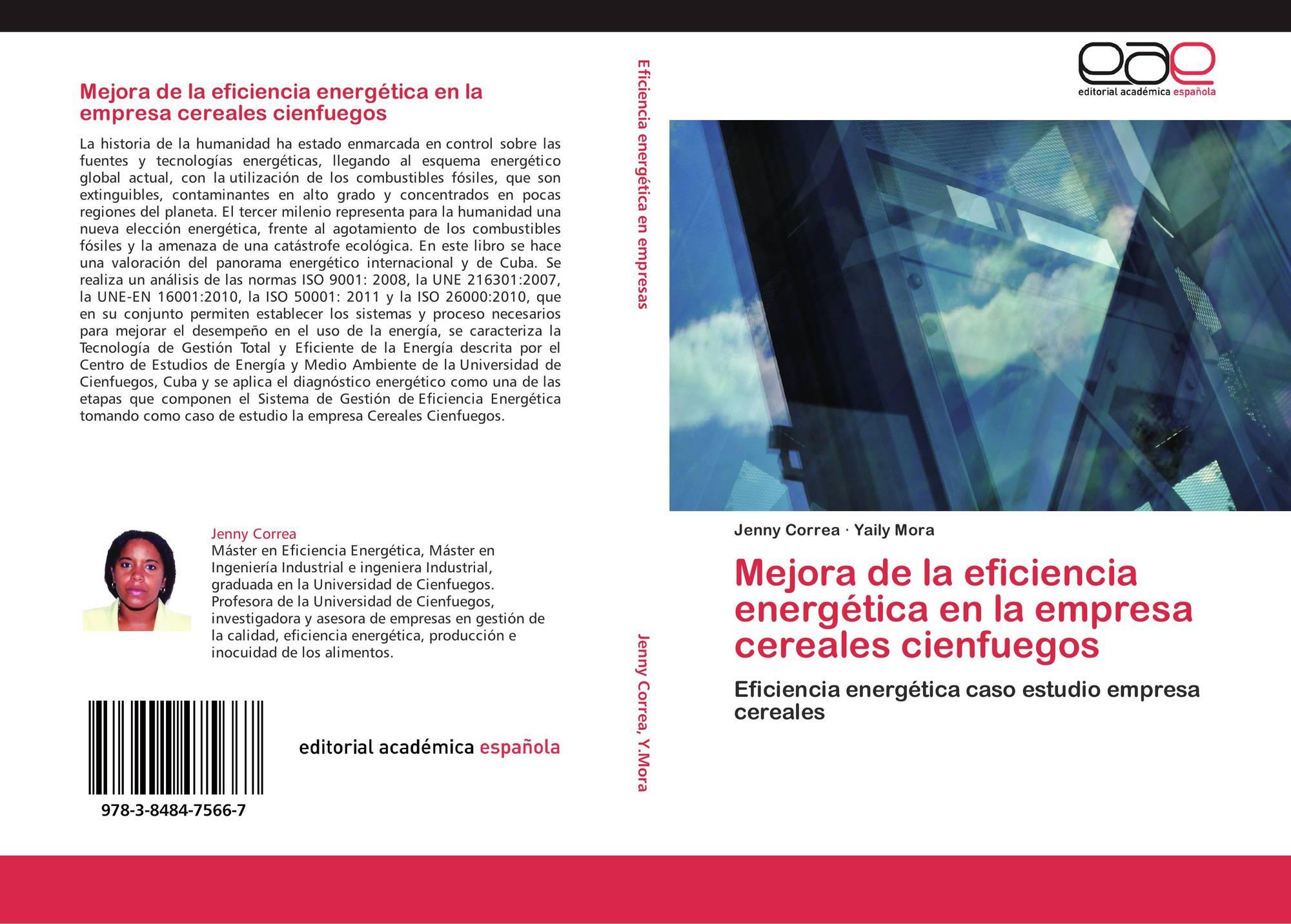 Portada del libro de mejora de la eficiencia energ tica en la empresa cereales cienfuegos
