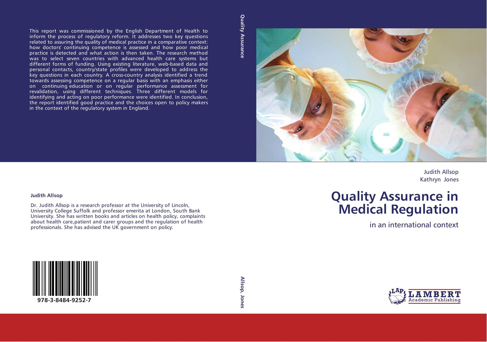 Quality Assurance in Medical Regulation