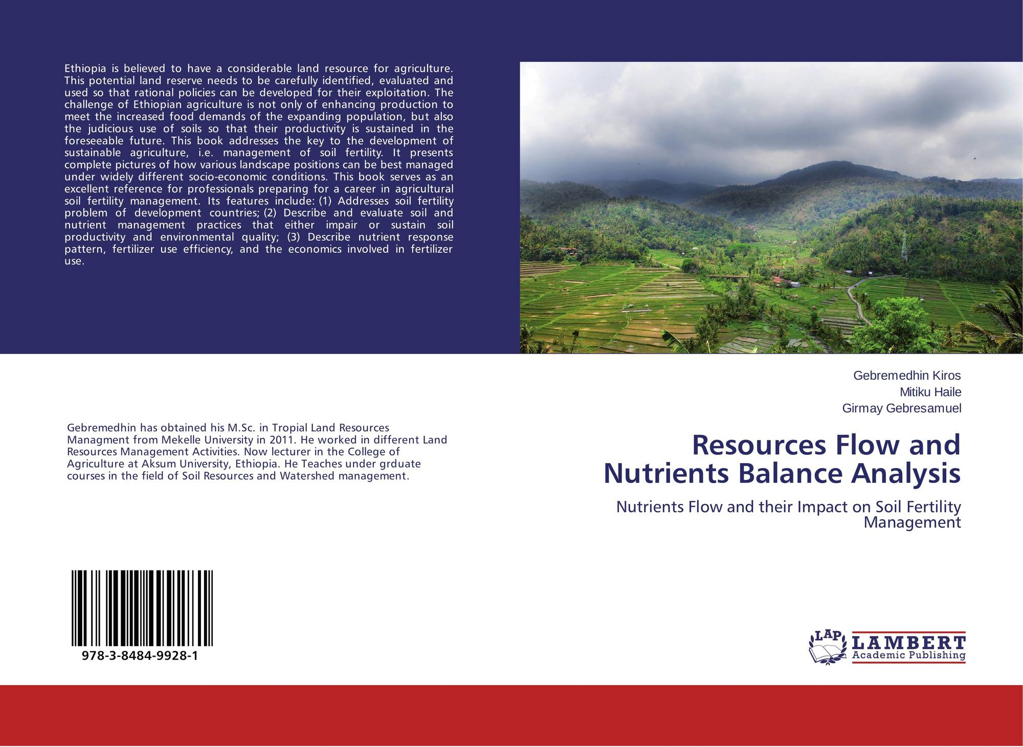 Resources Flow and Nutrients Balance Analysis, 978-3-8484-9928-1