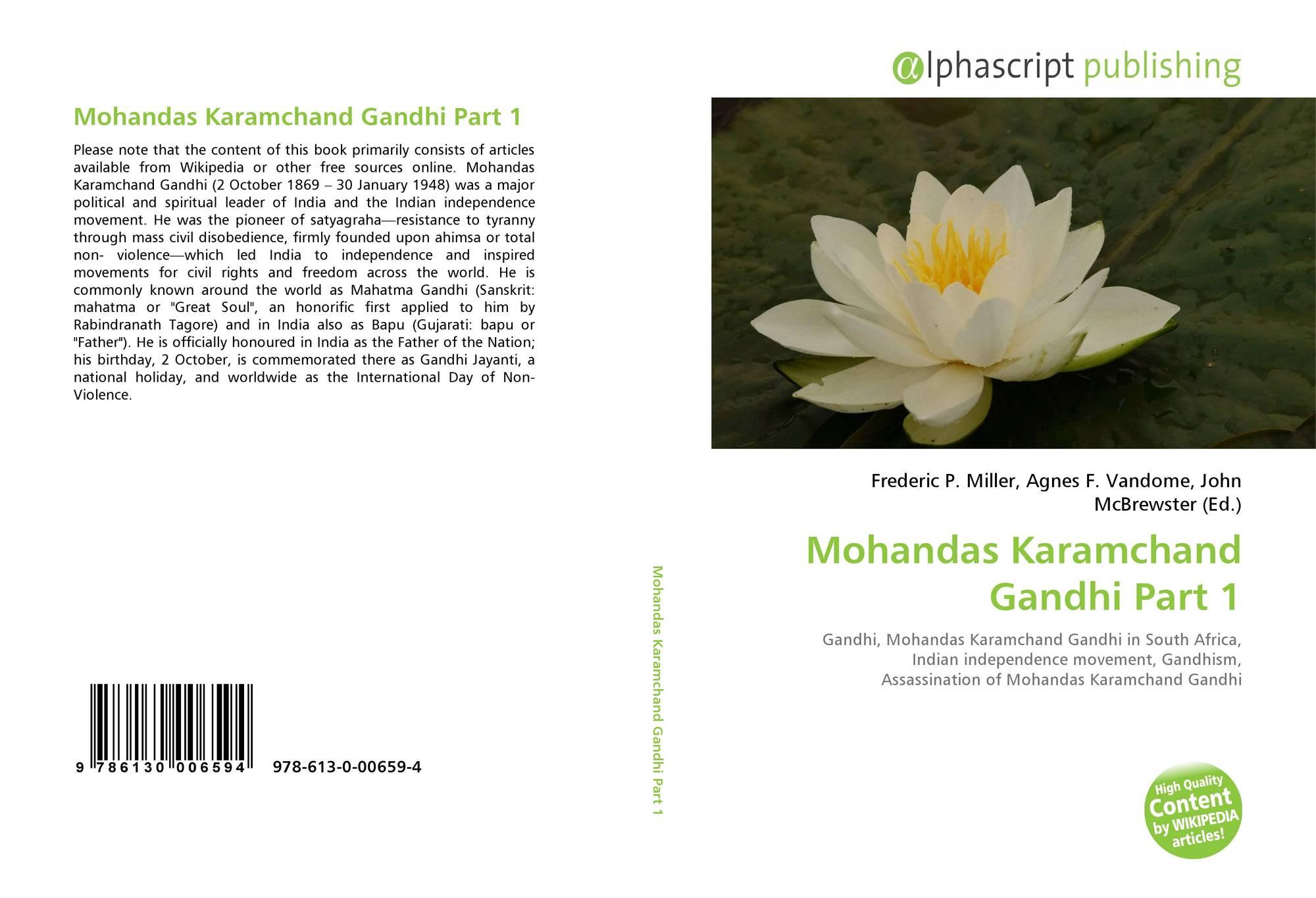 Mohandas Karamchand Gandhi Part 1 978 613 0 00659 4 6130006594
