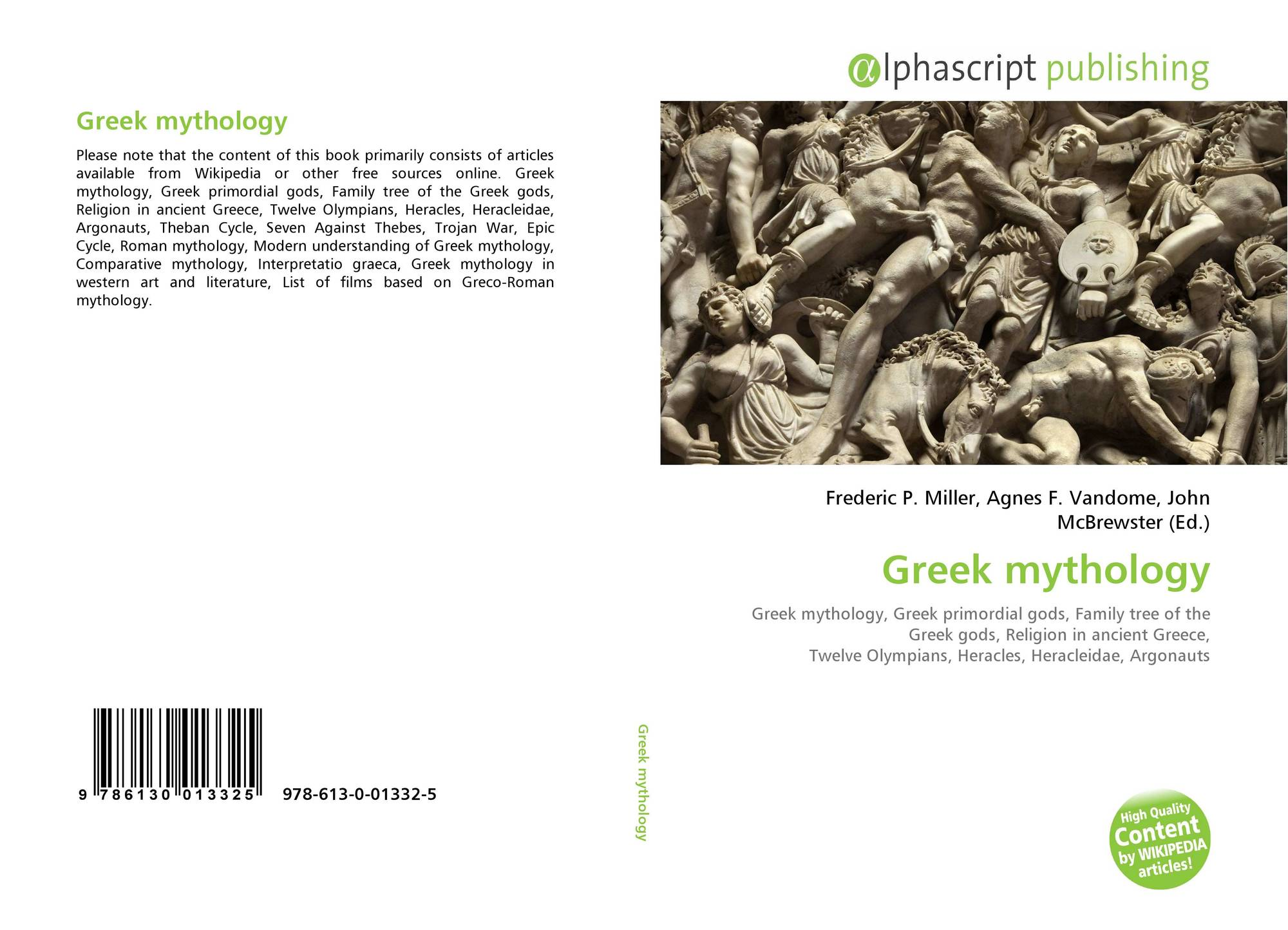 Greek Mythology 978 613 0 01332 5 6130013329 9786130013325