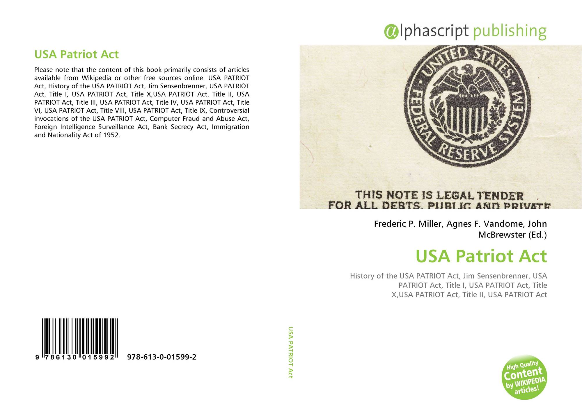 usa patriot act title ii
