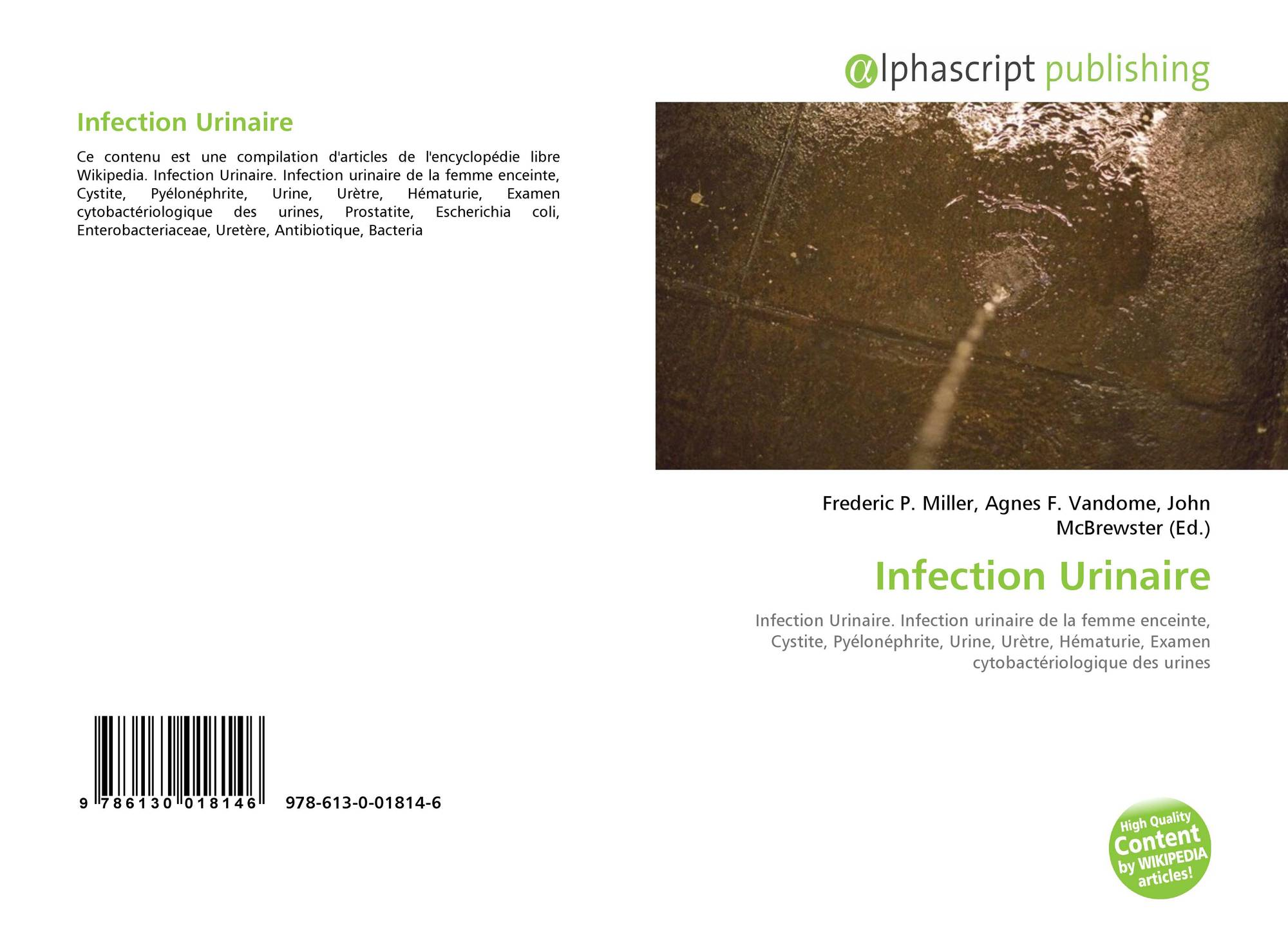Escherichia coli infection urinaire femme enceinte