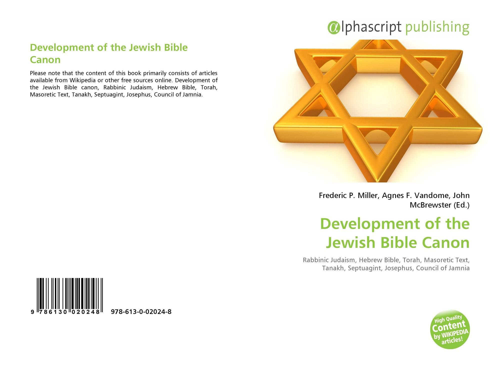 Development of the Jewish Bible Canon, 978-613-0-02024-8, 6130020244