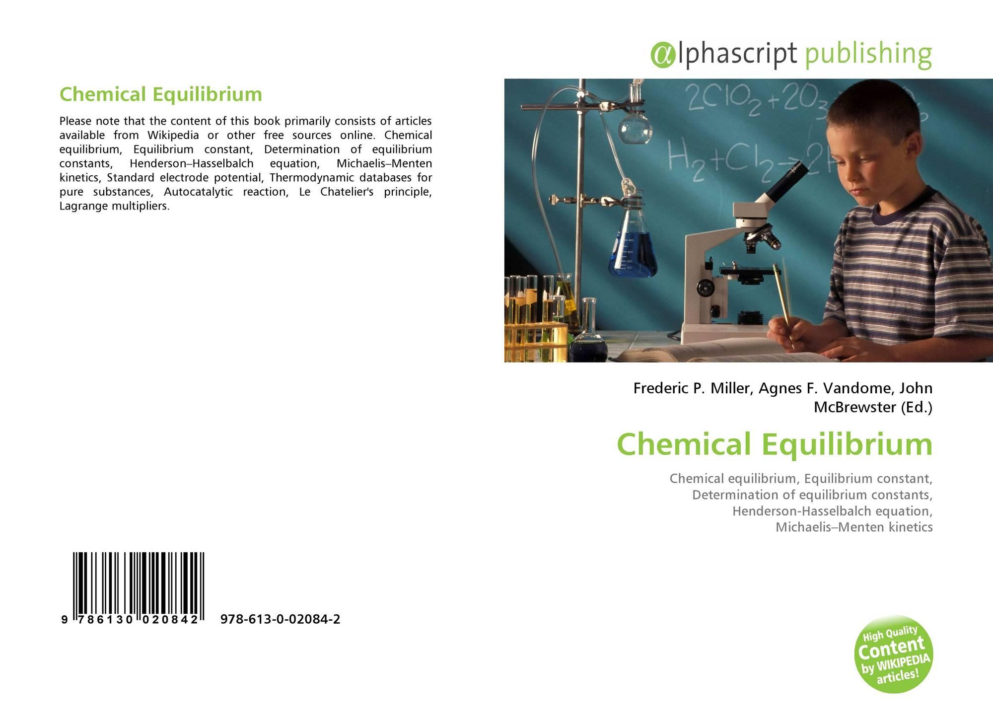 Chemical Equilibrium, 978-613-0-02084-2, 6130020848