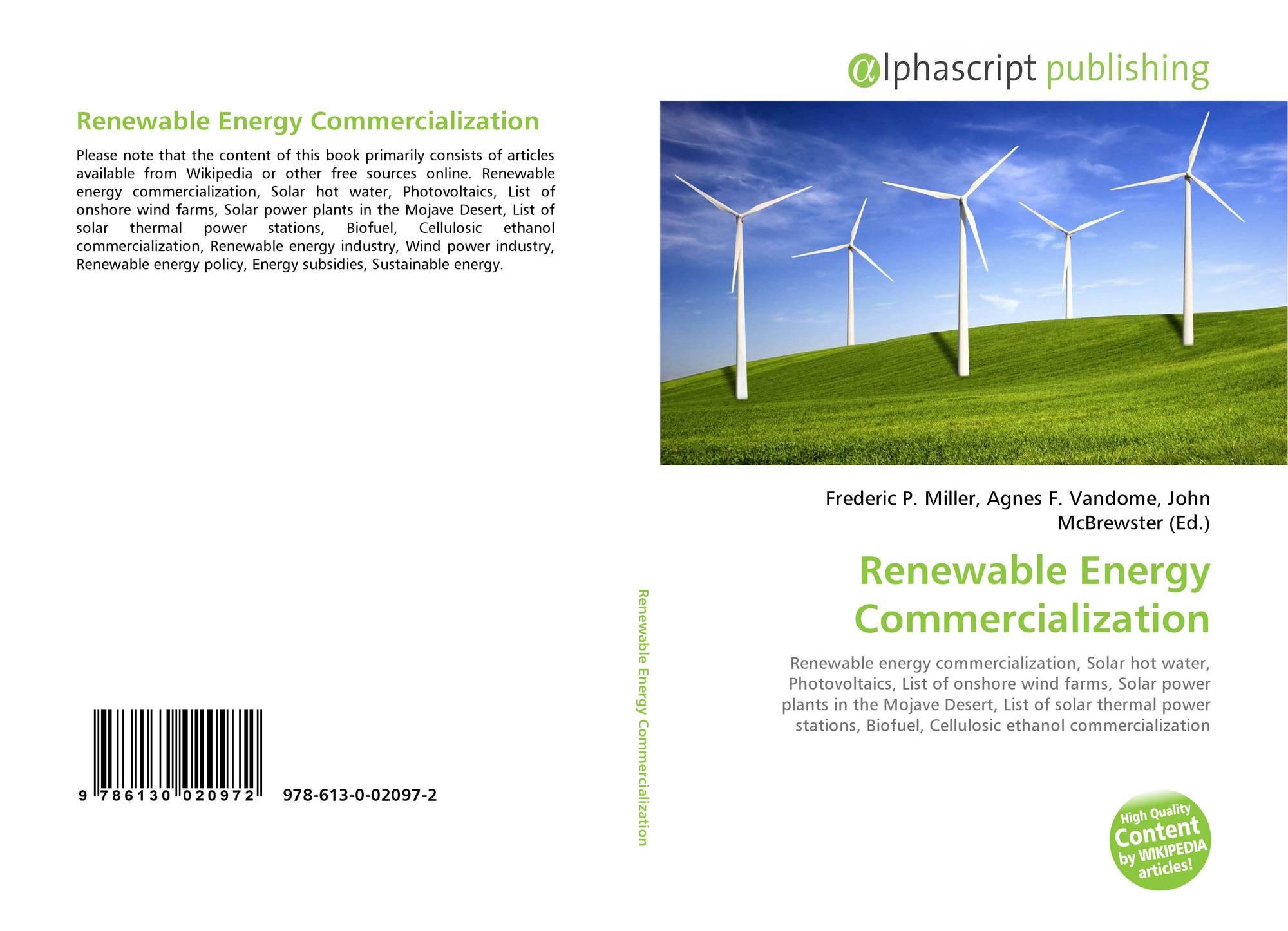 Renewable Energy mercialization 978 613 0 2 X