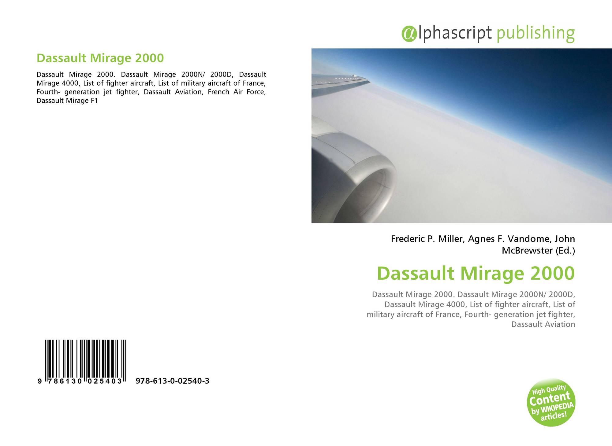 Dassault Mirage 2000, 978-613-0-02540-3, 6130025408