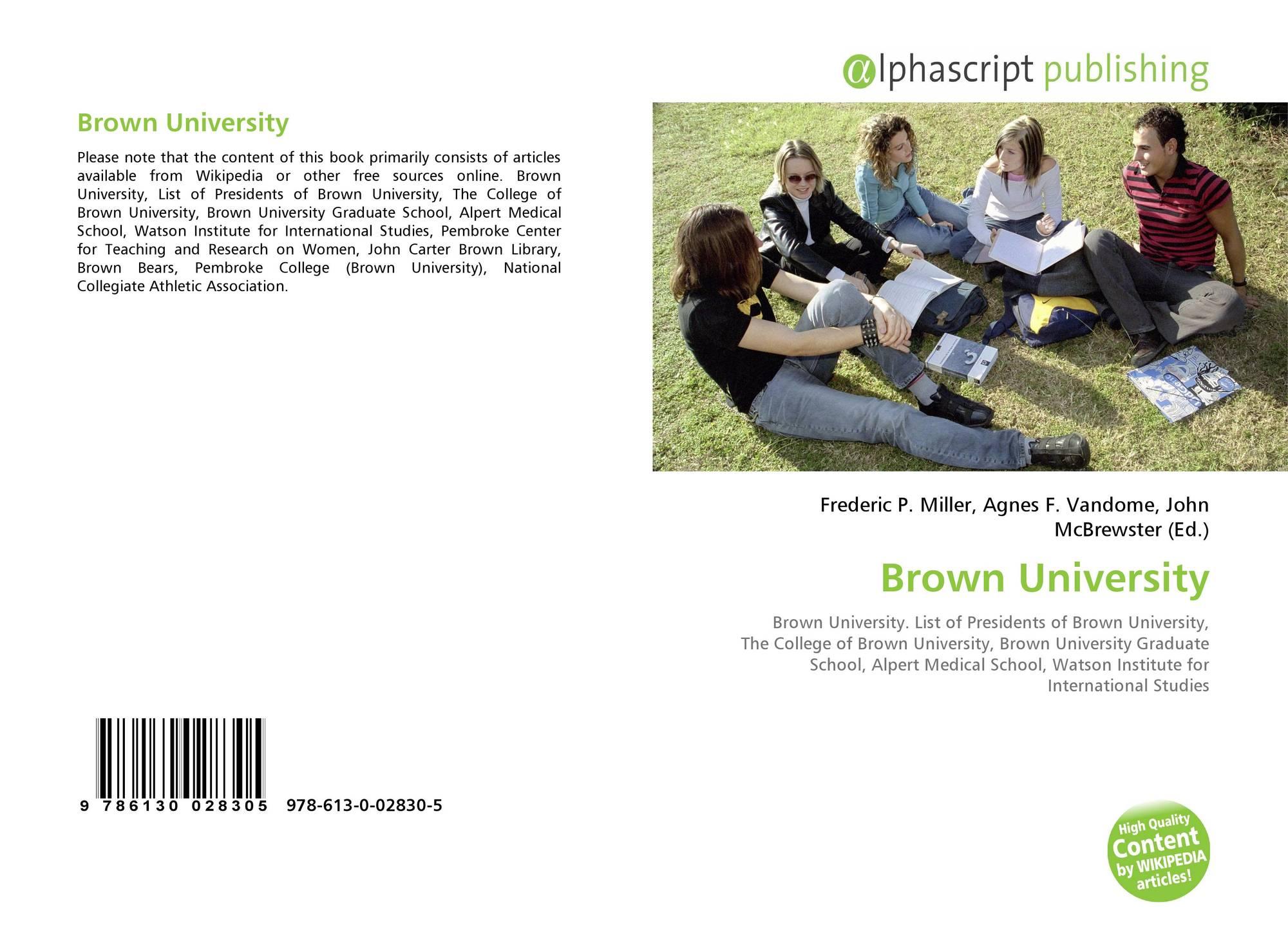 Brown University, 978-613-0-02830-5, 613002830X ,9786130028305