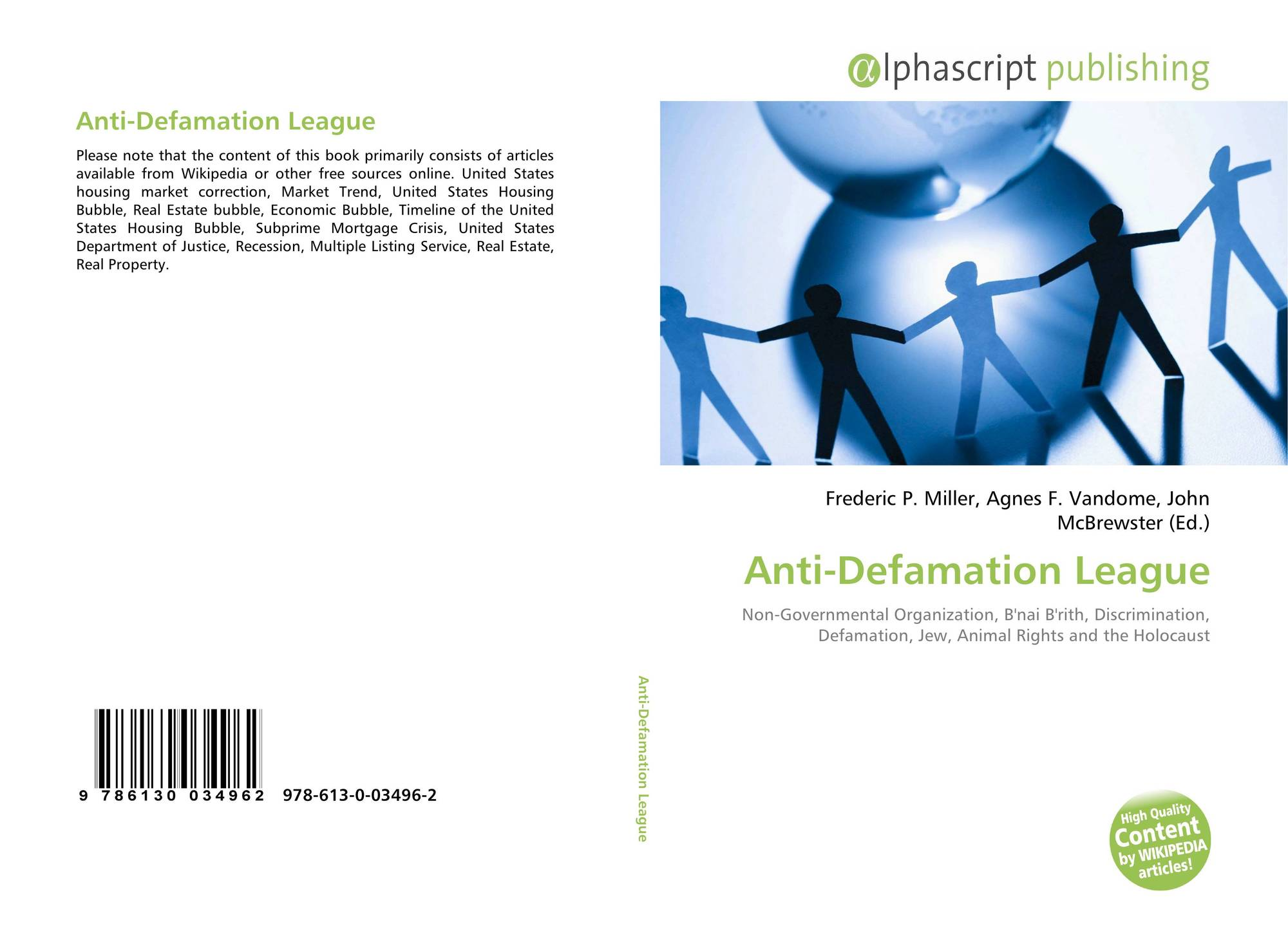 Anti-Defamation League, 978-613-0-03496-2, 6130034962 ...