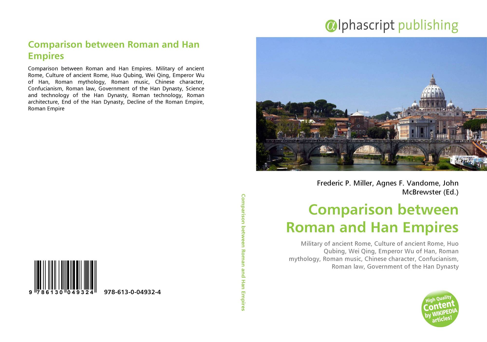 roman and han empire comparison and Both had a high degree of urbanization (up to 25% in the roman empire, i don't know numbers for han) and could support multiple cities with 500000 to 1mio inhabitants both roman and han were culturally defining for their respective region.