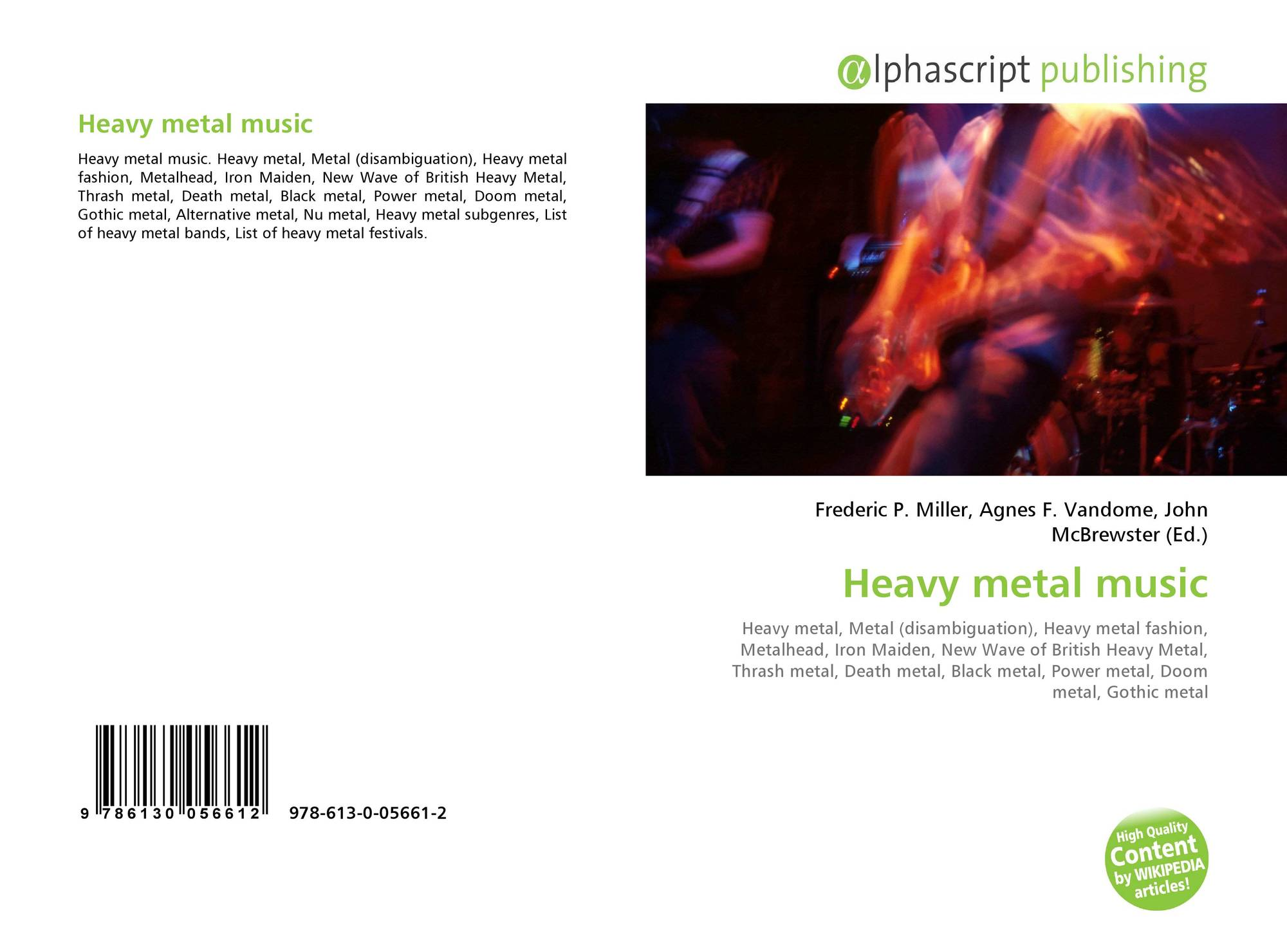 Heavy metal music, 978-613-0-05661-2, 6130056613 ,9786130056612