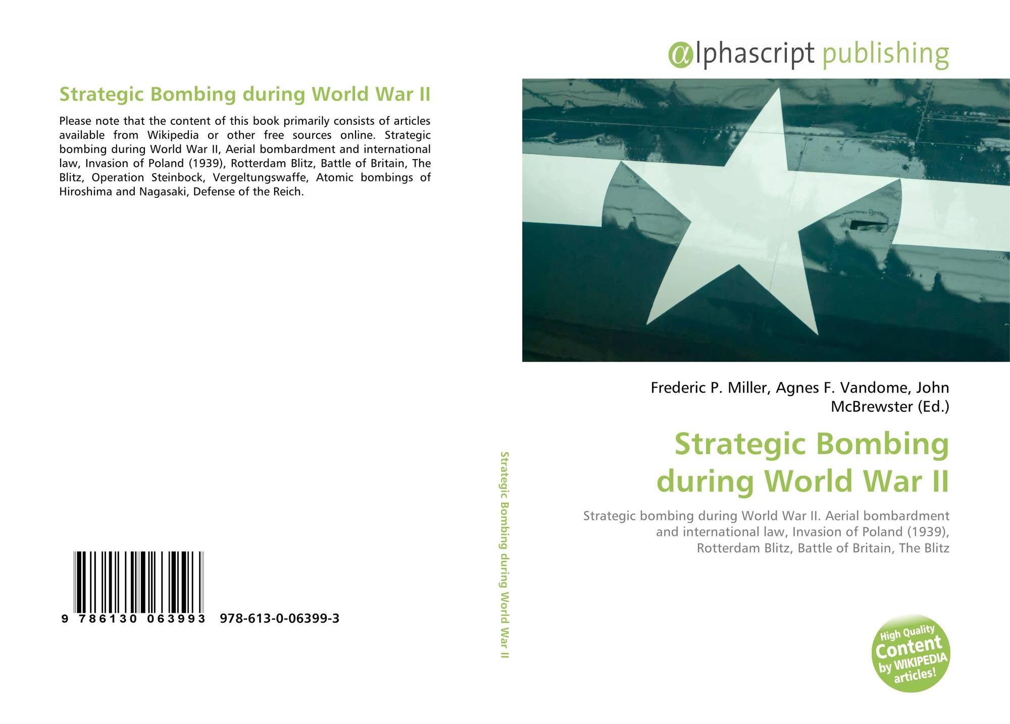 an analysis of strategic bombings during world war ii