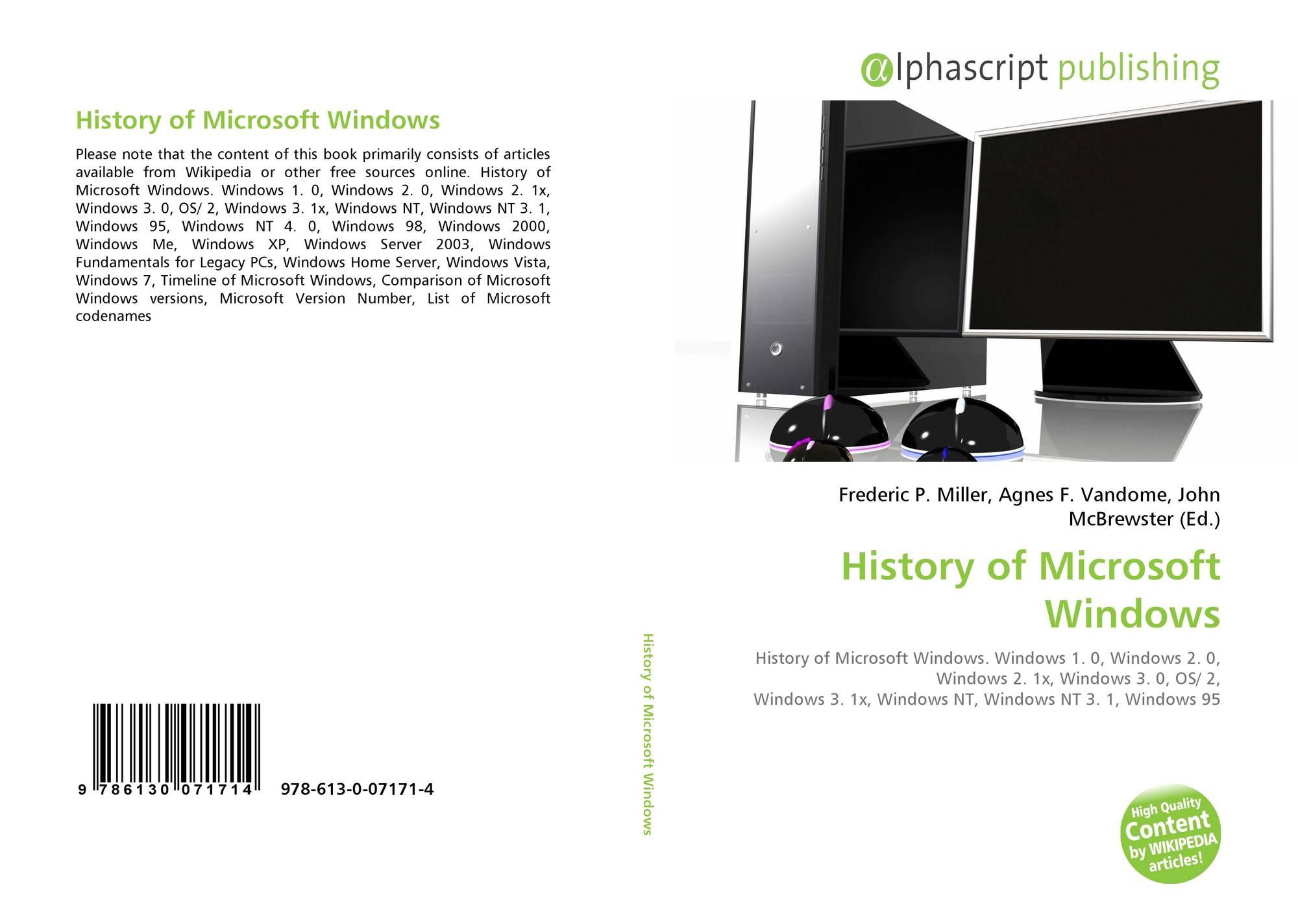 9786130071714 History of Microsoft Windows 978 613 0 07171 4 613007171X