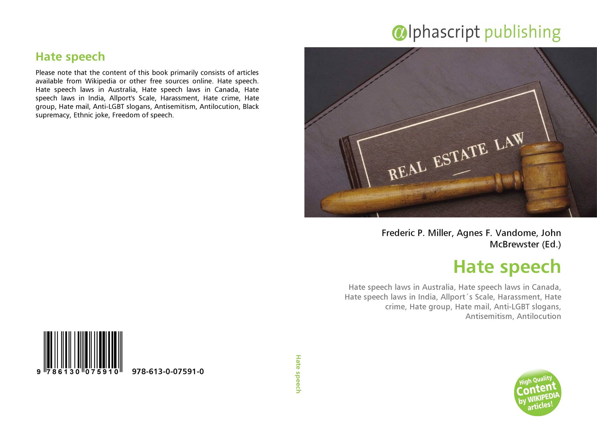 hate speech legal but unnecessary