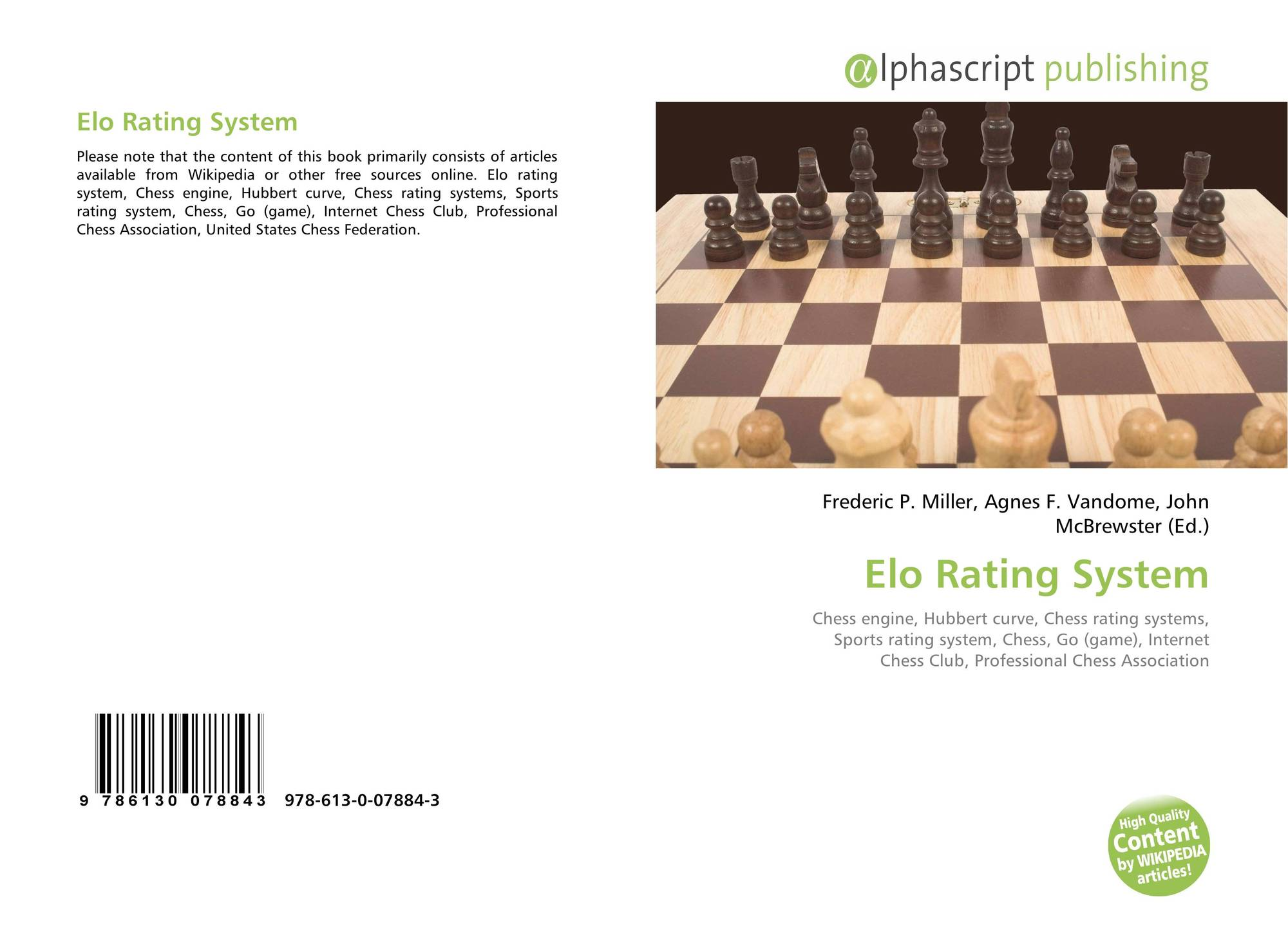 Elo Rating System, 978-613-0-07884-3, 6130078846 ,9786130078843
