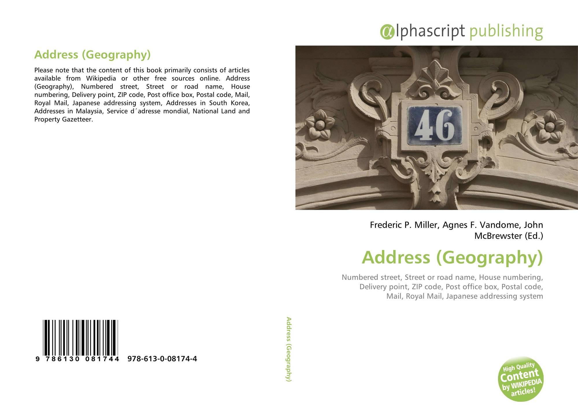 Address (Geography), 978-613-0-08174-4, 613008174X