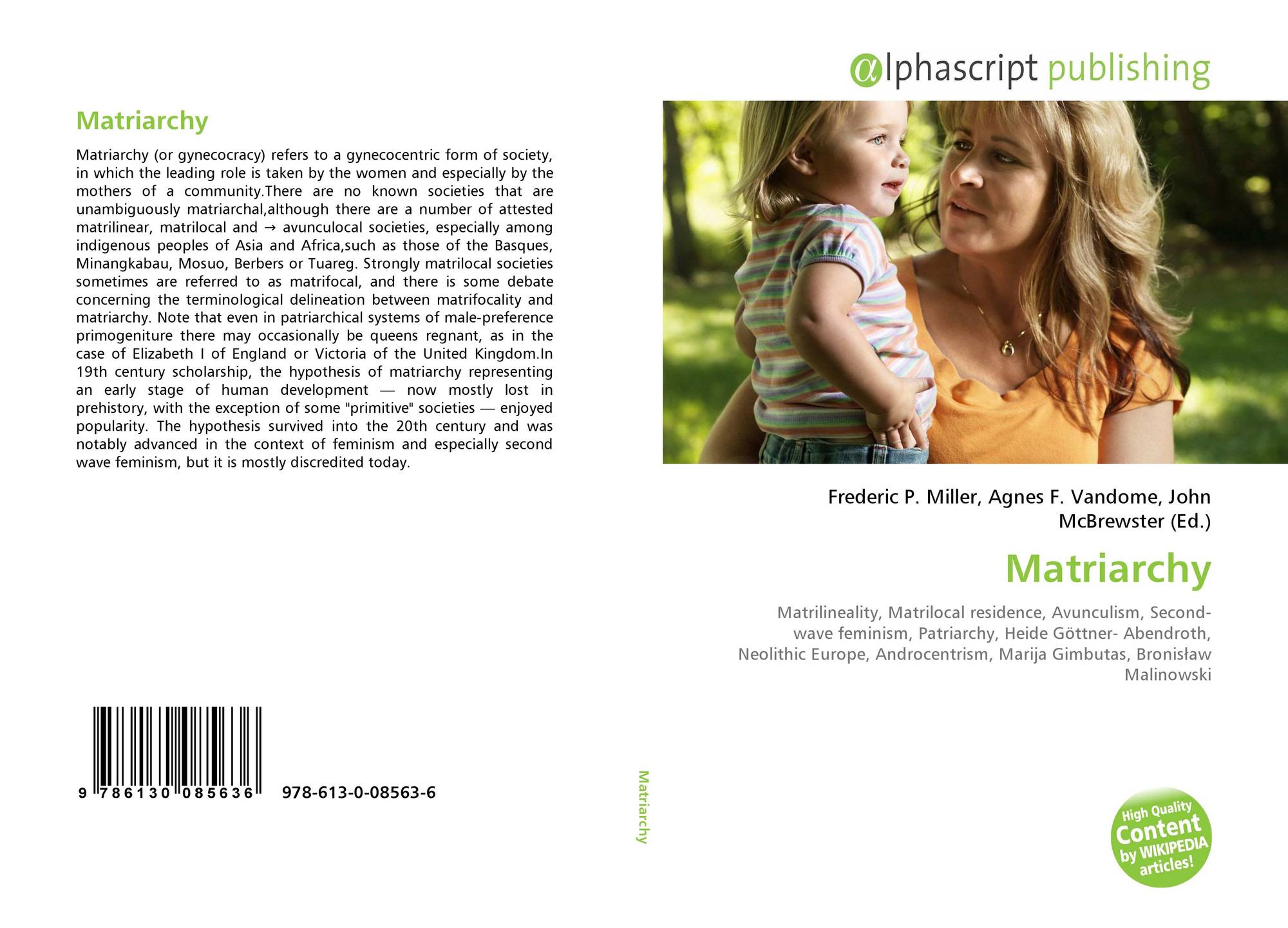 Matriarchy, 978-613-0-08563-6, 613008563X ,9786130085636