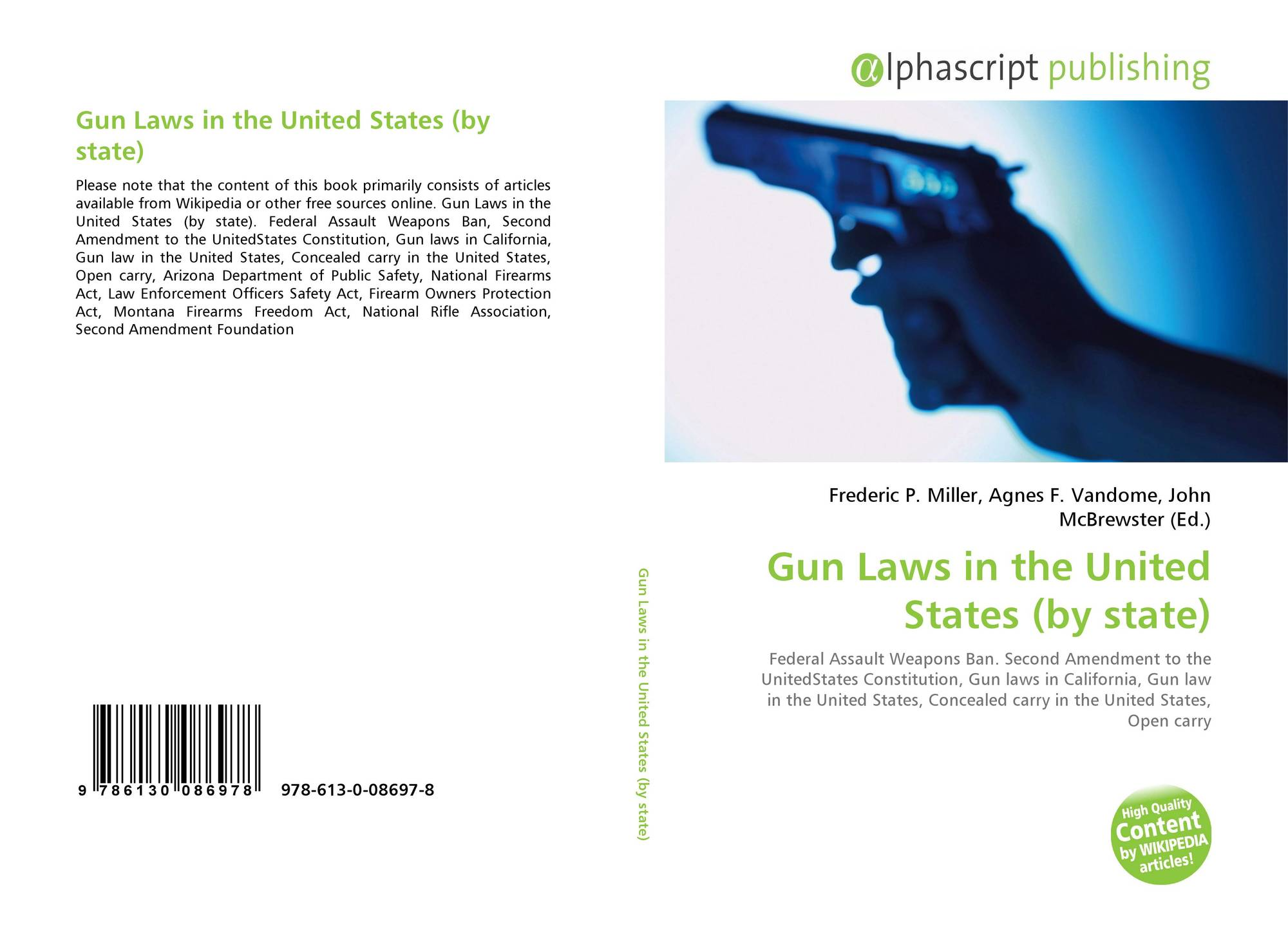 Gun Laws in the United States (by state), 978-613-0-08697-8