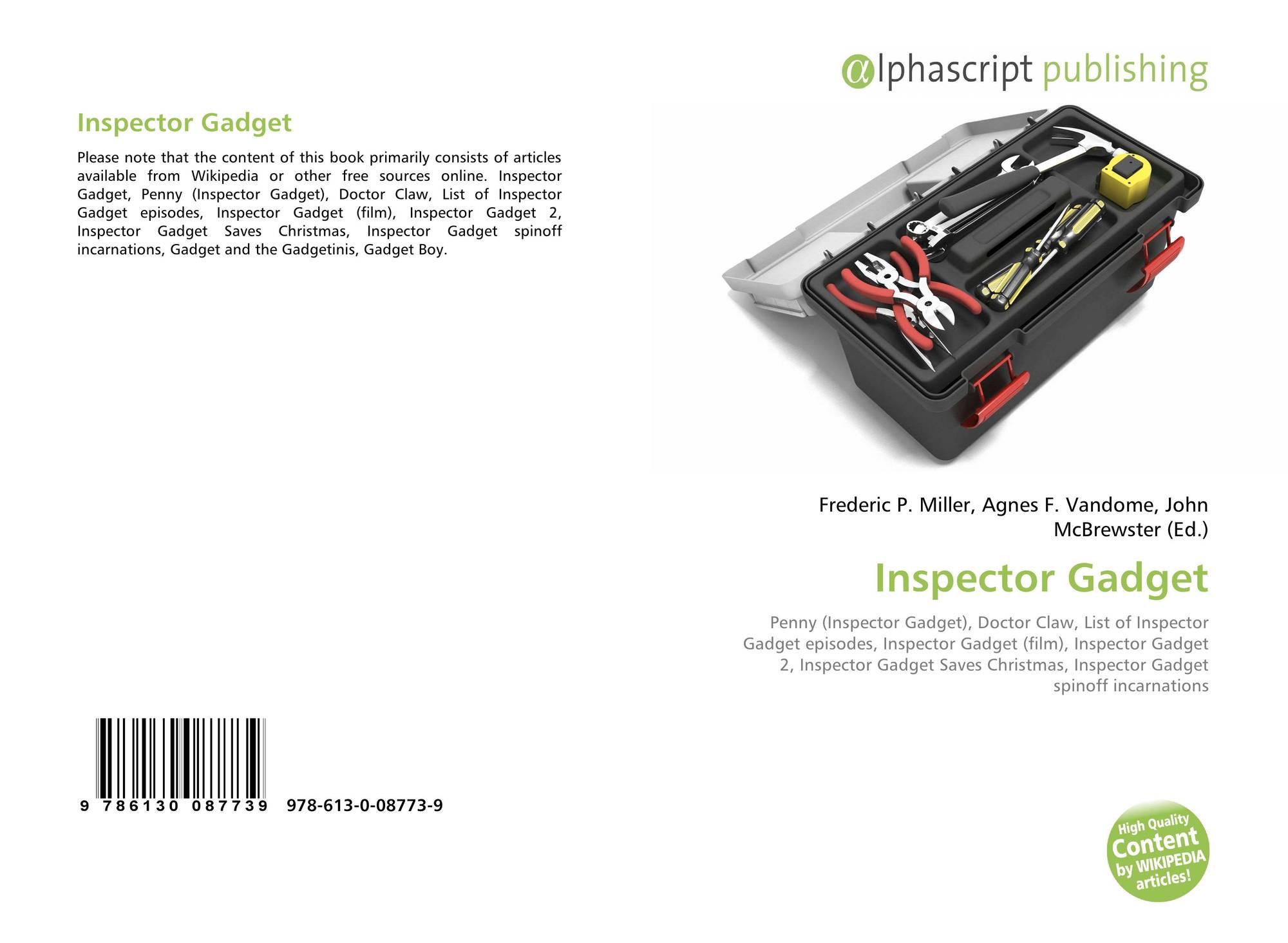 Inspector Gadget, 978-613-0-08773-9, 613008773X ,9786130087739