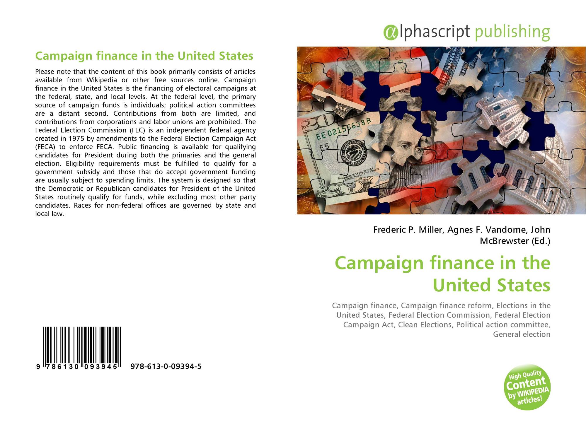 a discussion on the issue of campaign finances in the united states The issue gained traction during the occupy wall street protest movement in 2011 and during the successful us senate campaign of former harvard law school professor elizabeth warren in 2012 read.