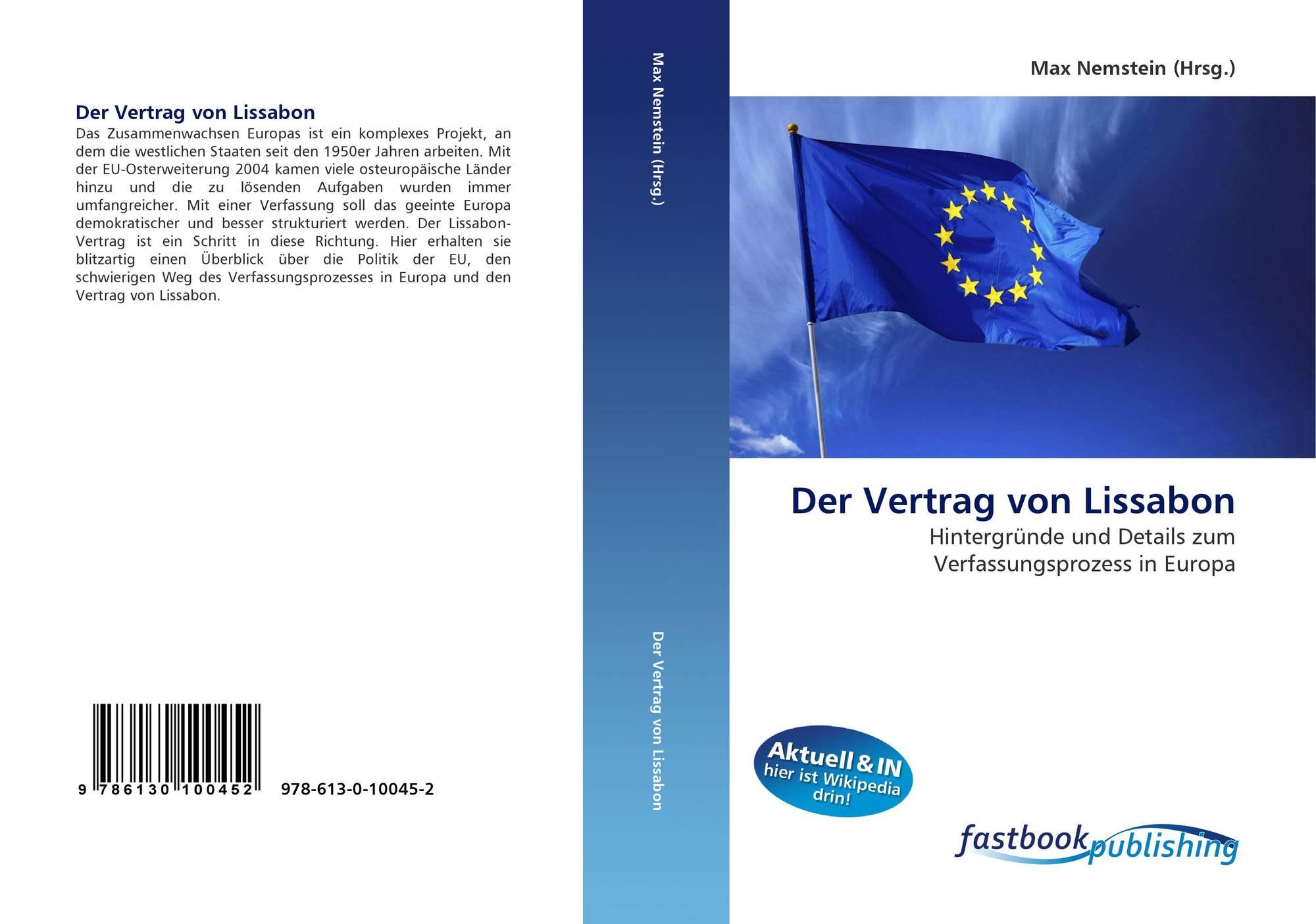 Der Vertrag Von Lissabon 978 613 0 10045 2 6130100450