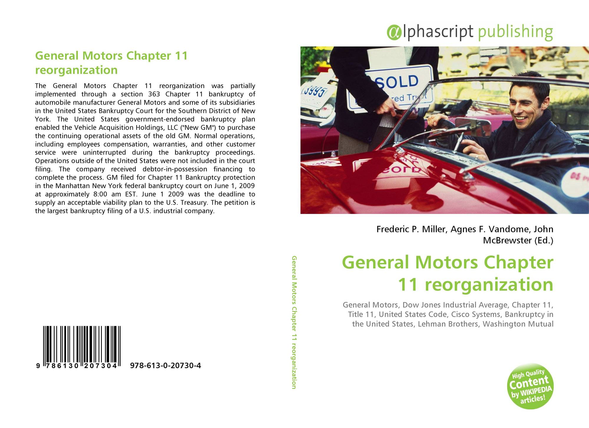 General motors chapter 11 reorganization 978 613 0 20730 for General motors protection plan