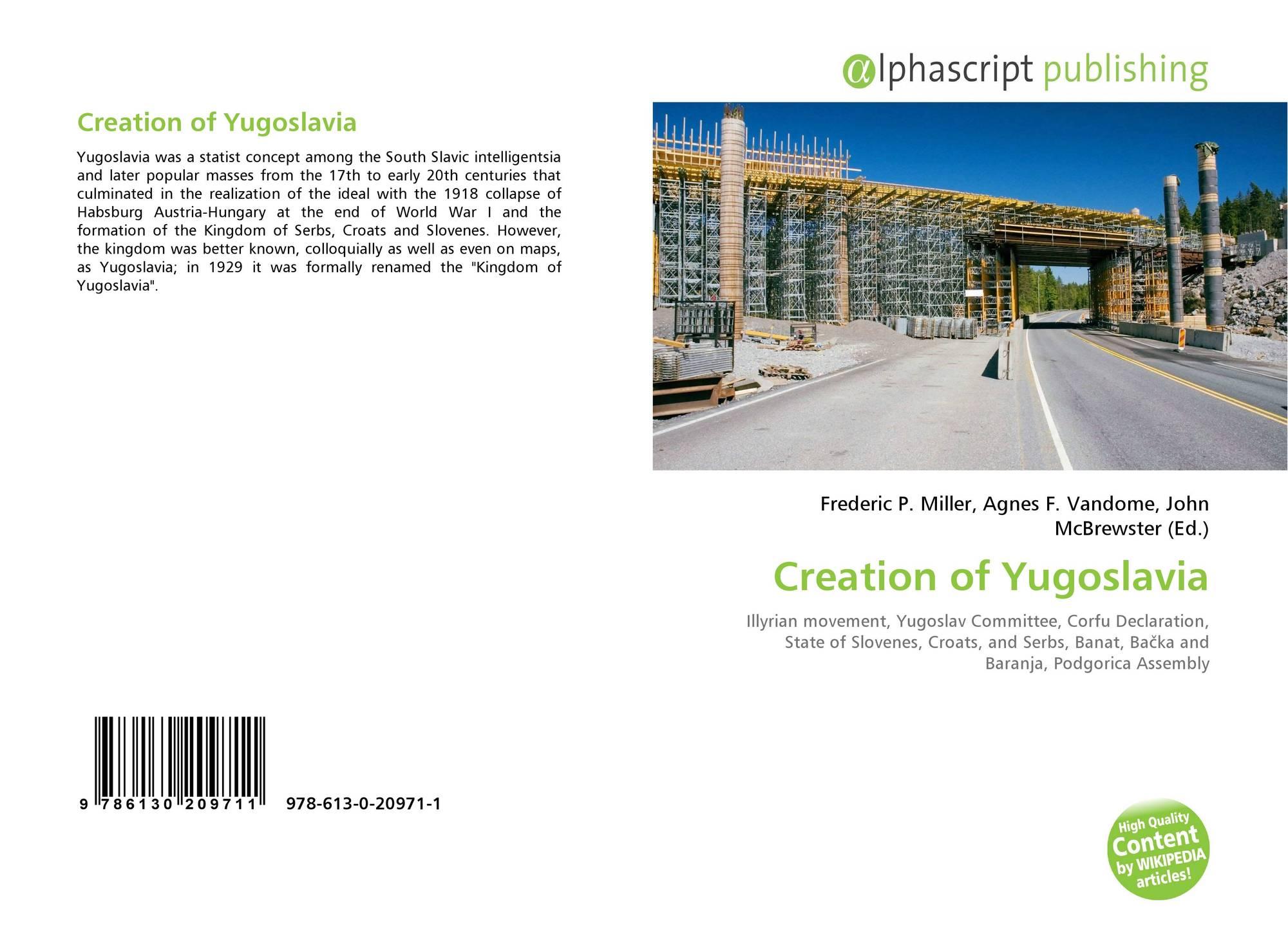 Bookcover of Creation of Yugoslavia