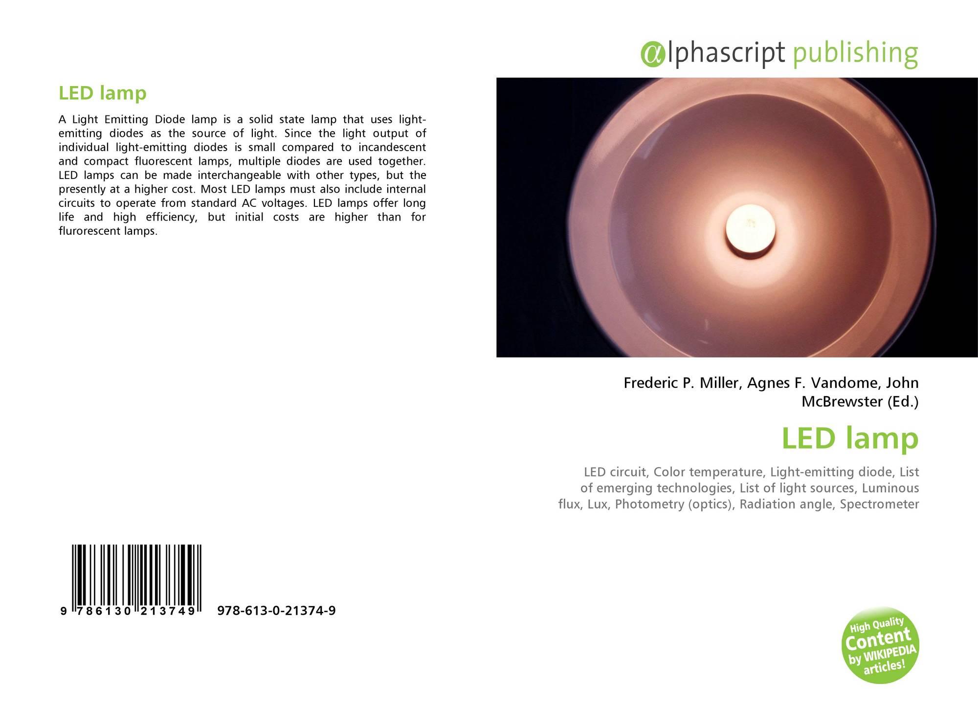 Led Lamp 978 613 0 21374 9 6130213743 9786130213749 Lightemitting Diodes Ledandlightcircuit Circuit Diagram Bookcover Of
