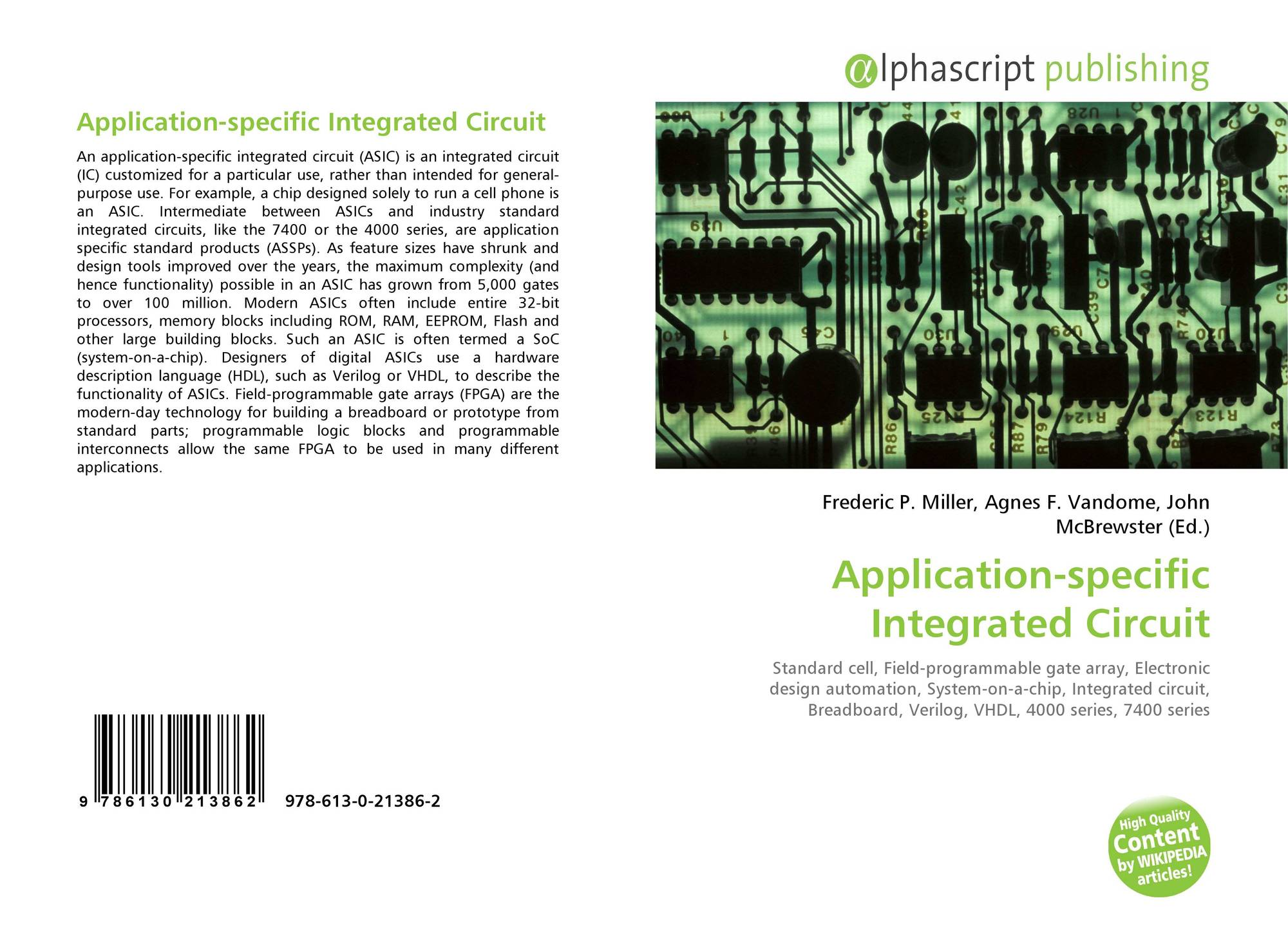 Application Specific Integrated Circuit 978 613 0 21386 2 Programmable Popular Bookcover Of 9786130213862