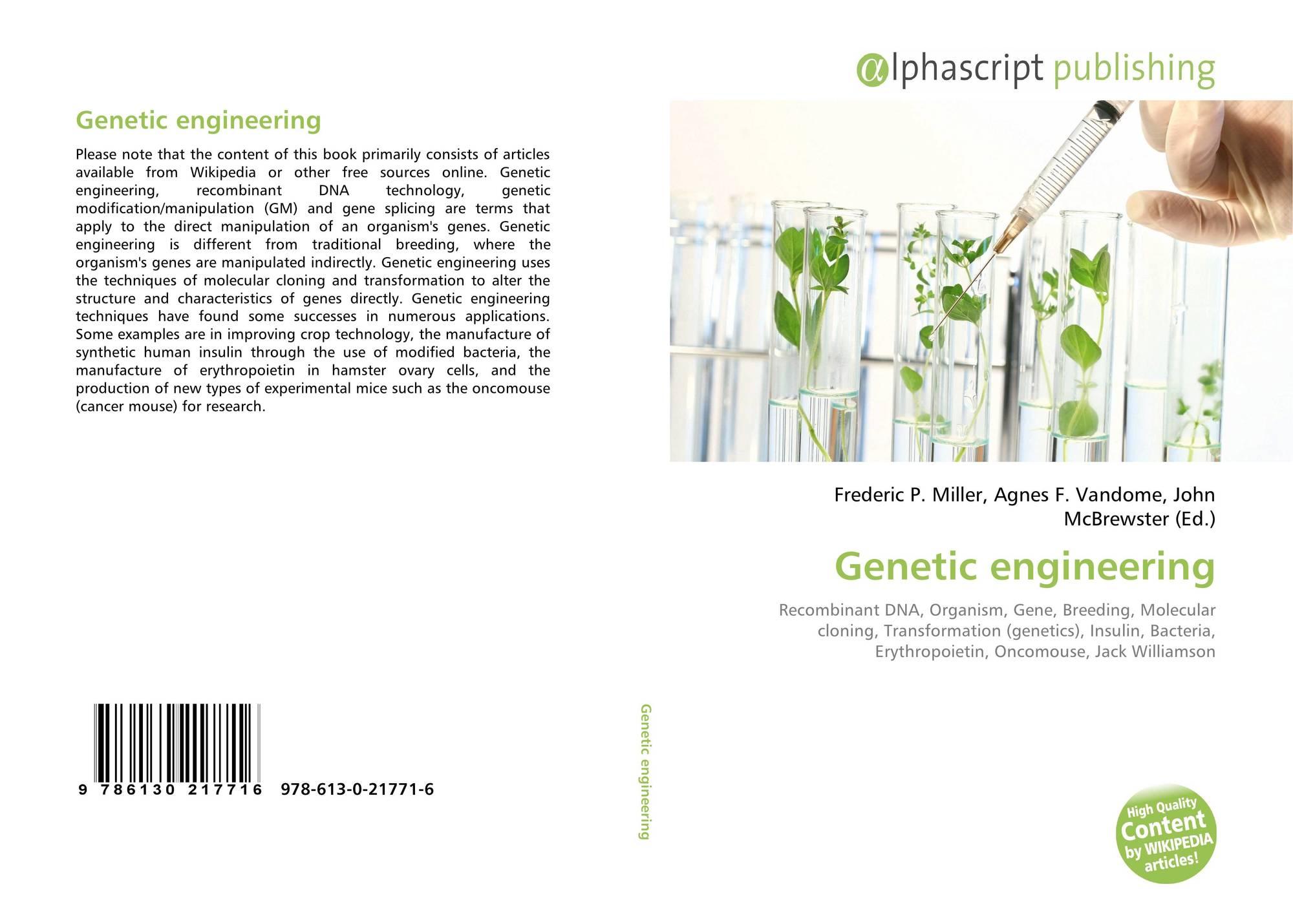 Genetic engineering wikipedia - Bookcover Of Genetic Engineering