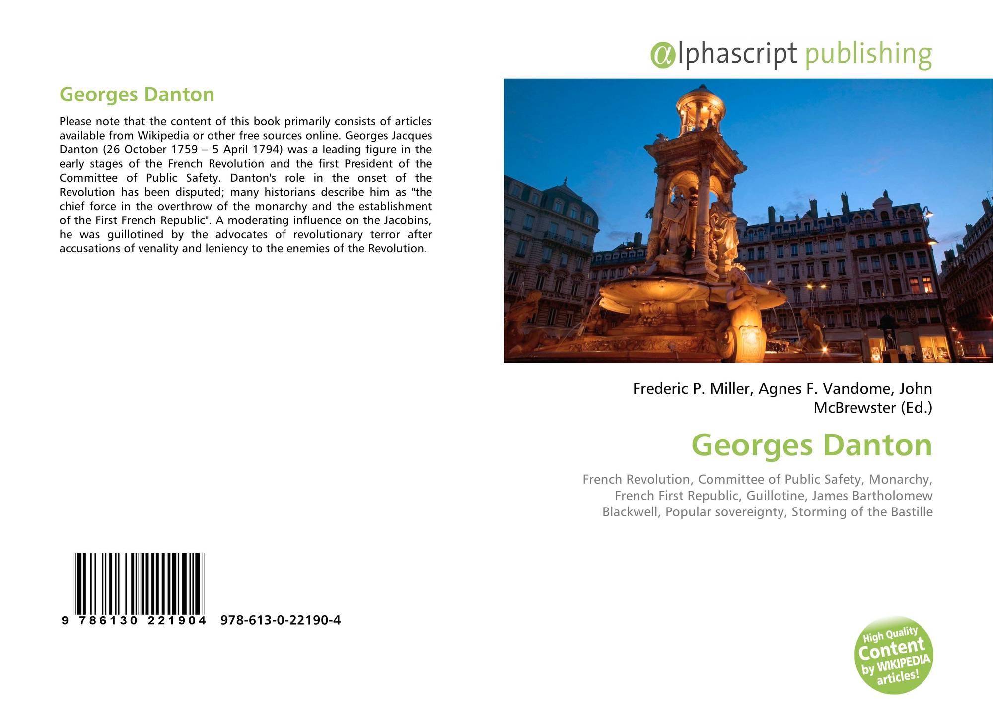 Georges Danton georges danton, 978-613-0-22190-4, 6130221908 ,9786130221904