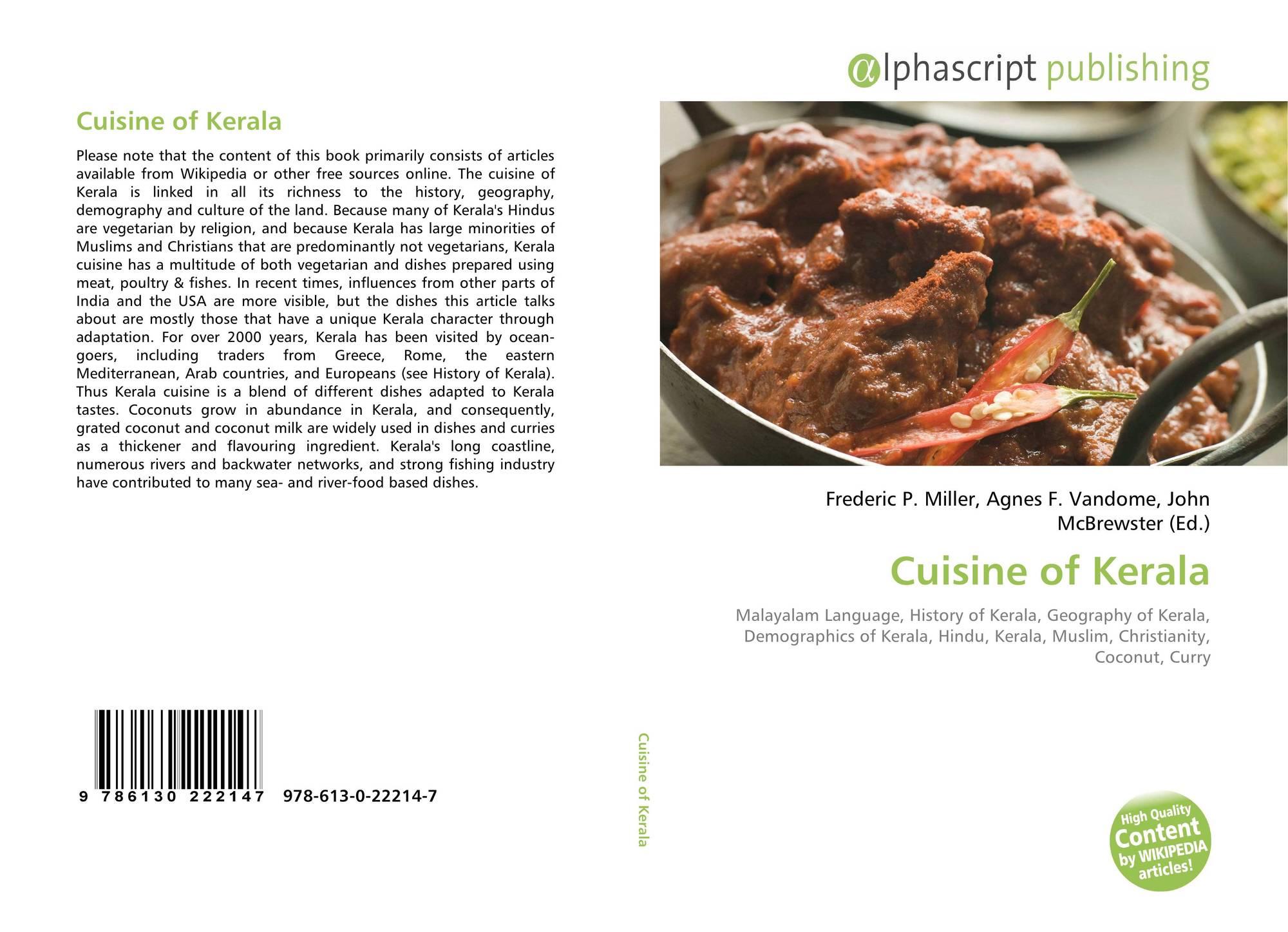 Cuisine of Kerala, 978-613-0-22214-7, 6130222149 ,9786130222147