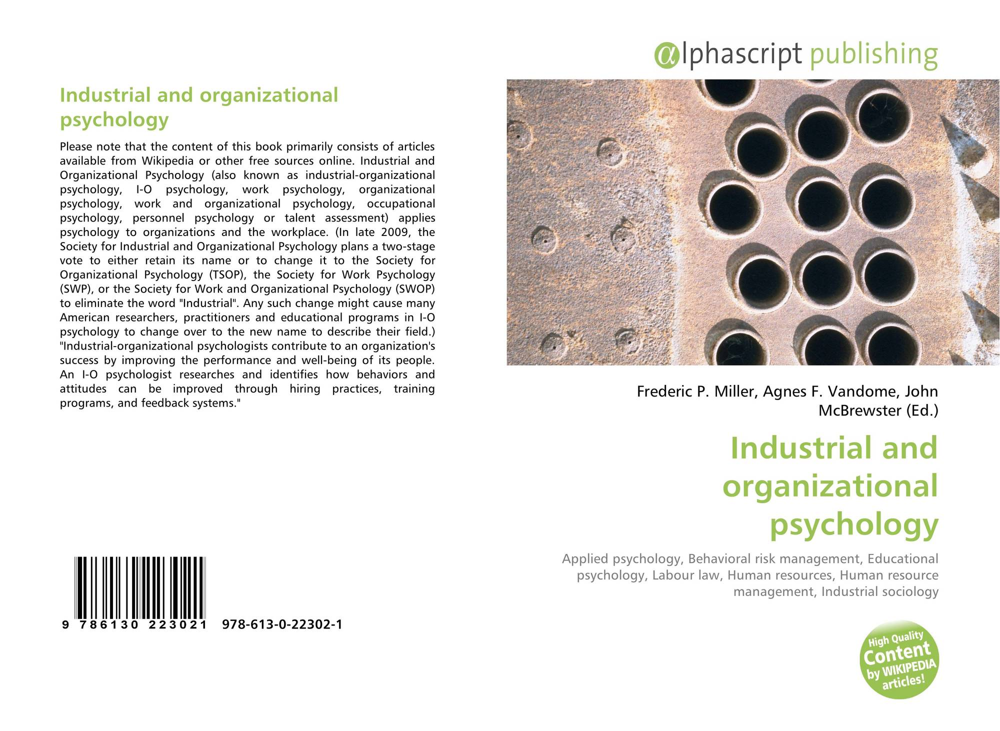definition and history of industrial psychology An industrial society is one in which technologies of mass production are used to make vast amounts of goods in factories, and in which this is the dominant mode of production and organizer of social life.